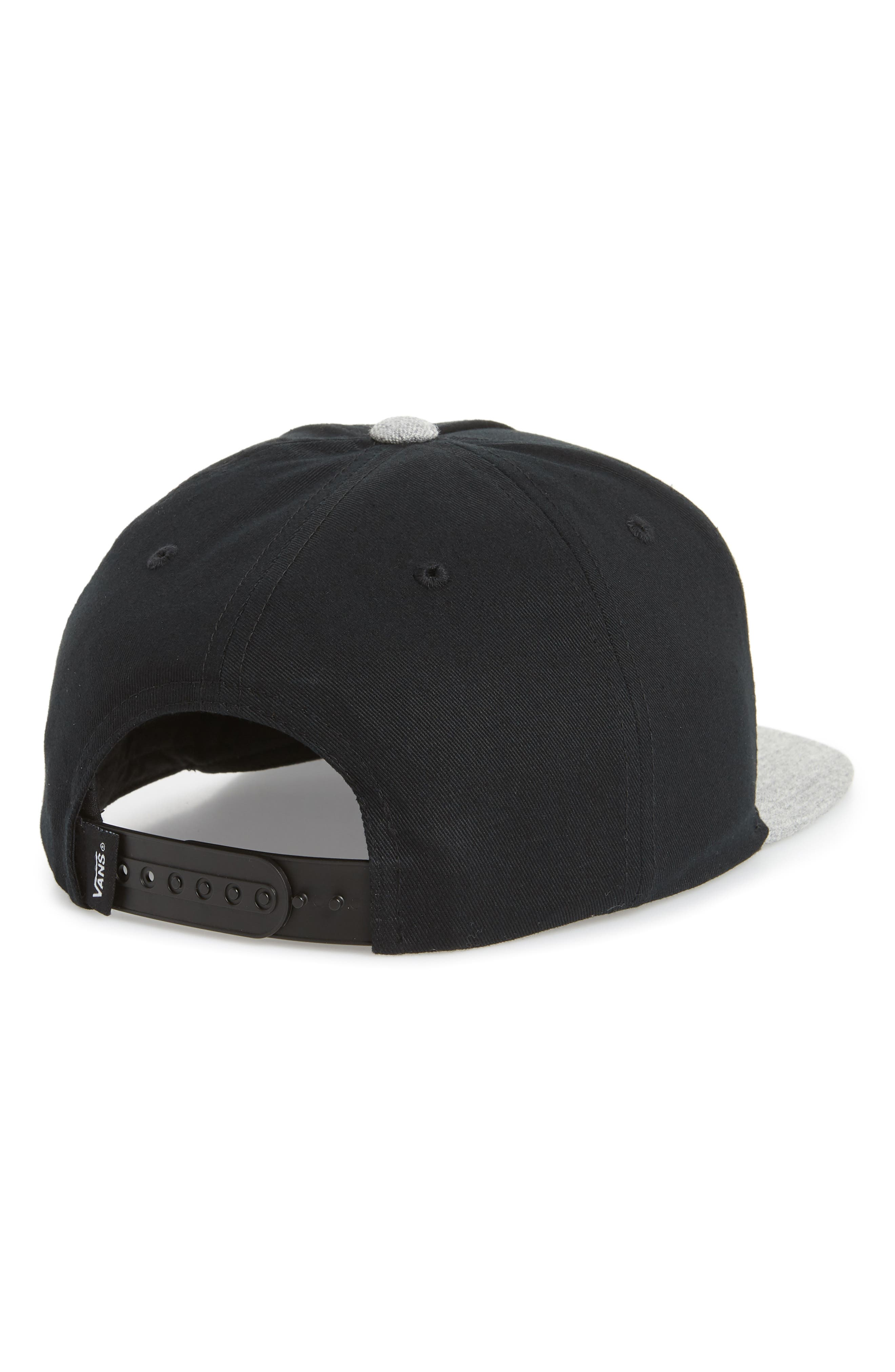 Classic Patch Snapback Cap,                             Alternate thumbnail 2, color,                             Black/ Heather Grey