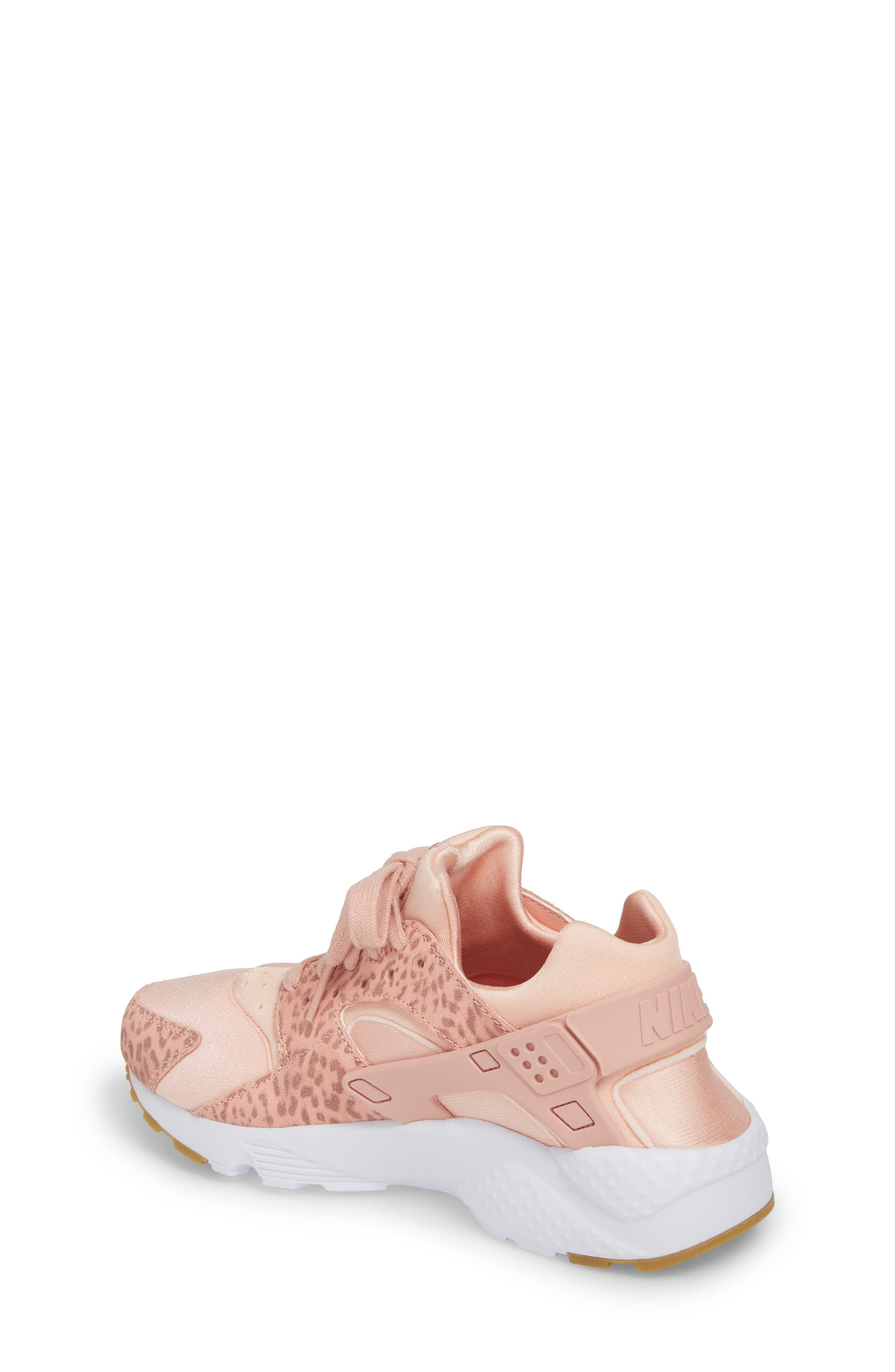 Huarache Run SE Sneaker,                             Alternate thumbnail 2, color,                             Coral Stardust/ Rust Pink/ Gum