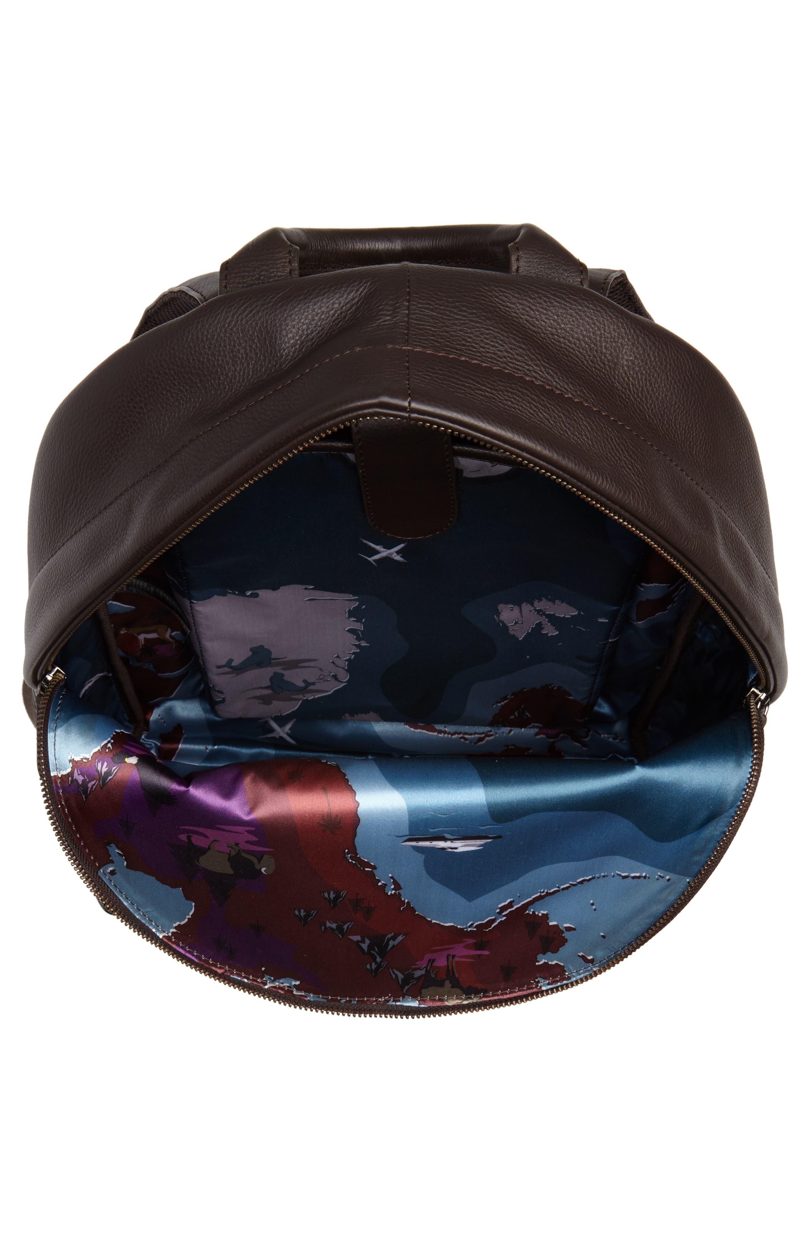 Huntman Stripe Backpack,                             Alternate thumbnail 4, color,                             Chocolate
