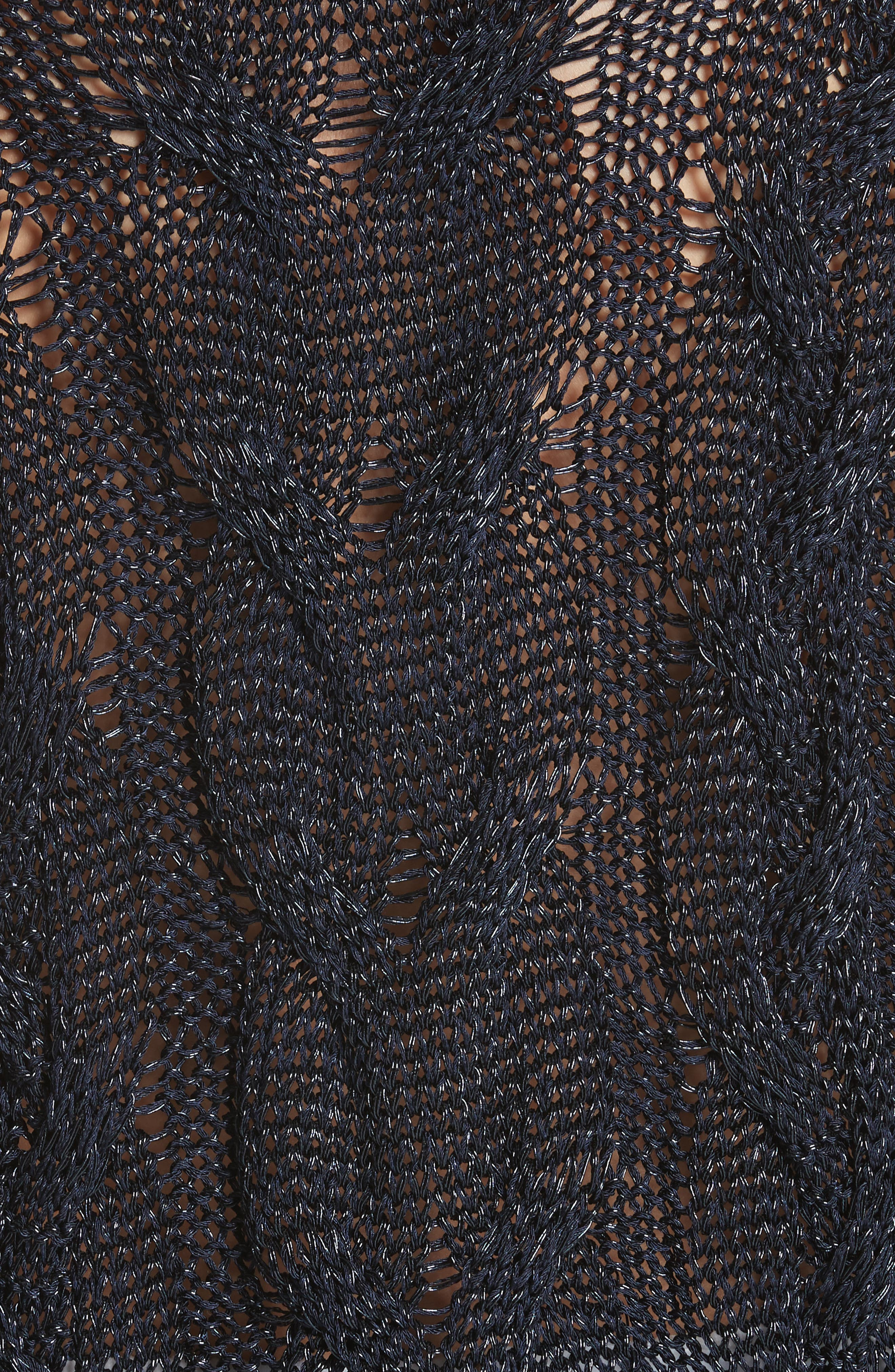 Emma Cable Knit Sweater,                             Alternate thumbnail 5, color,                             Navy