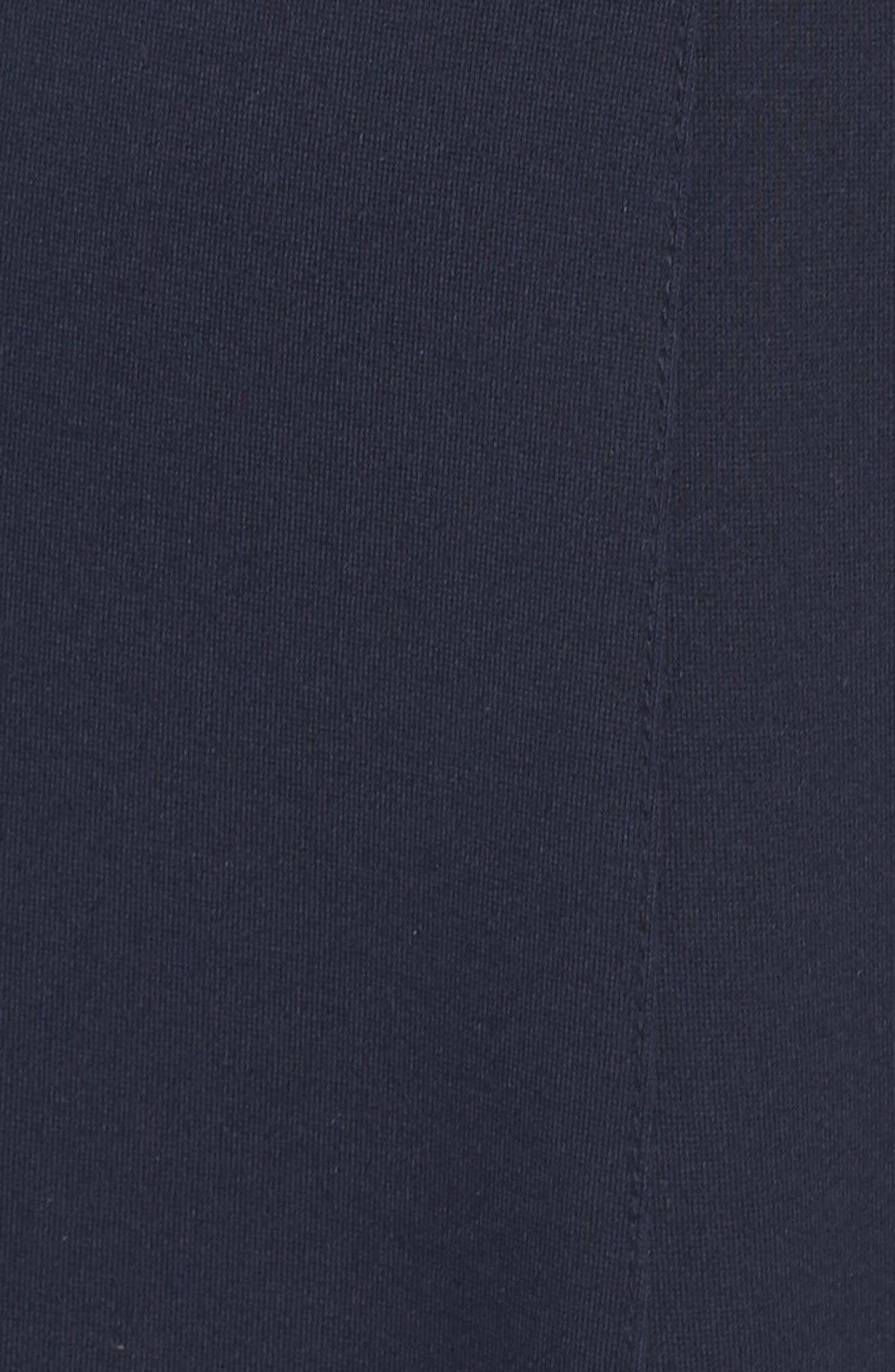 Hazel Lace Trim V-Neck Dress,                             Alternate thumbnail 5, color,                             Midnight Blue/ Black