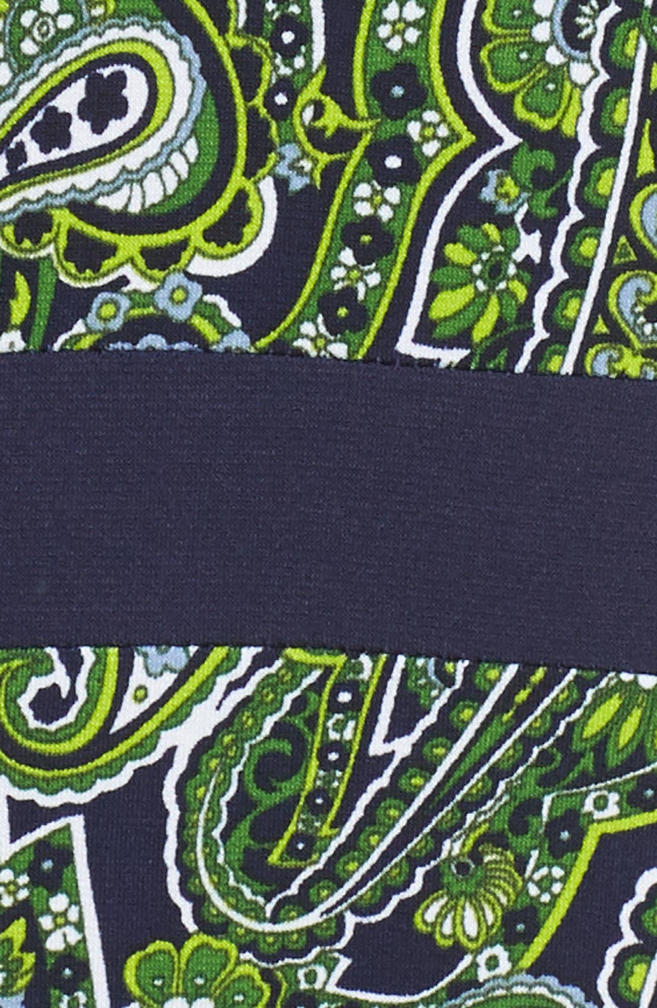 Paisley Paneled Dress,                             Alternate thumbnail 5, color,                             True Navy/ Green Apple Mu