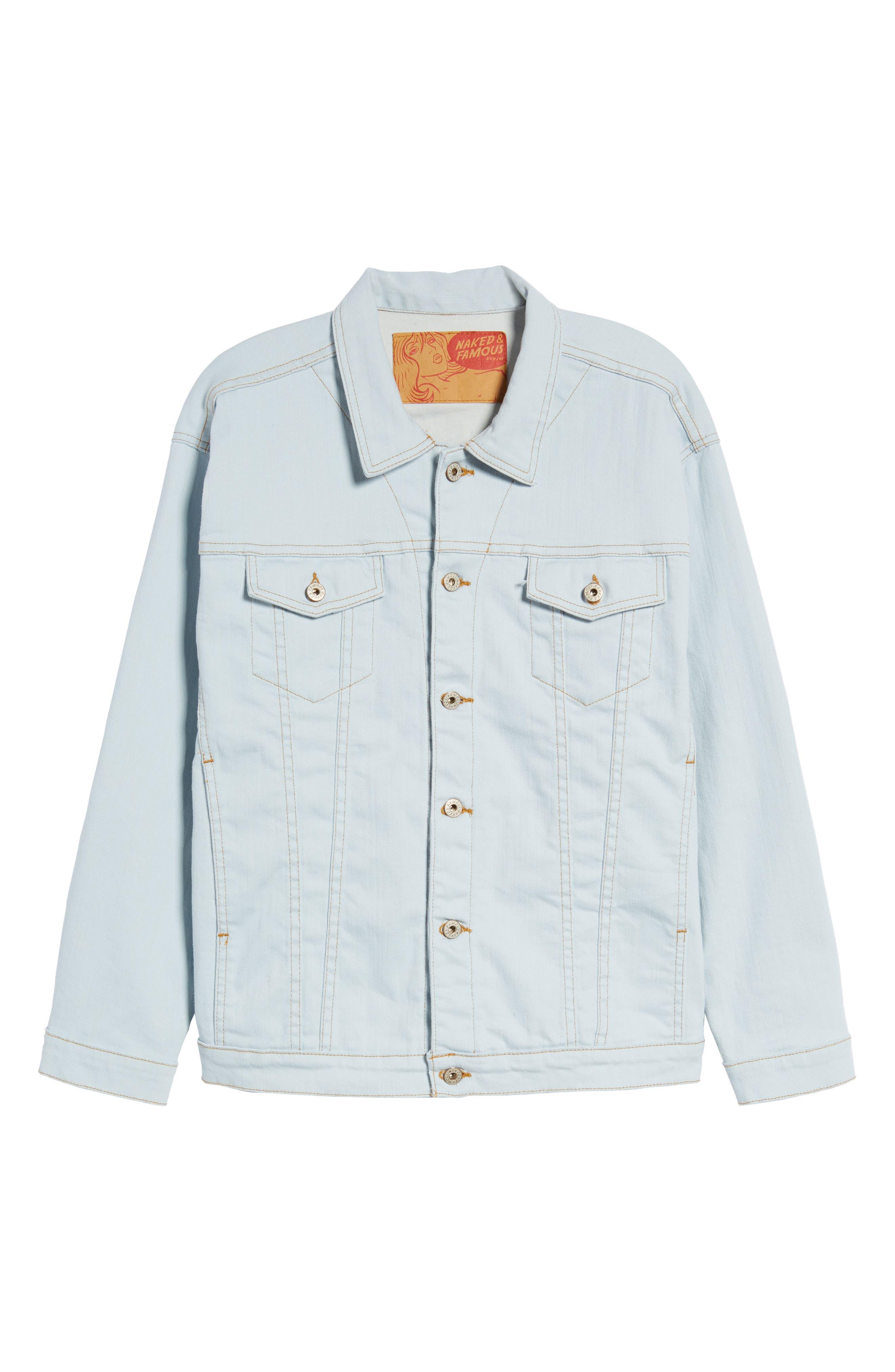 Oversize Jacket,                             Alternate thumbnail 5, color,                             Powder Blue