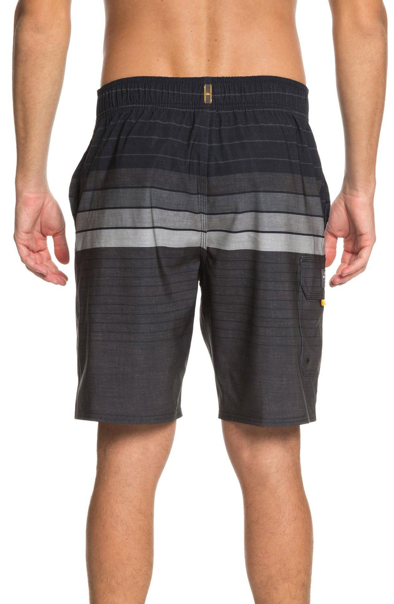 Admiral Stripe Board Shorts,                             Alternate thumbnail 2, color,                             Black