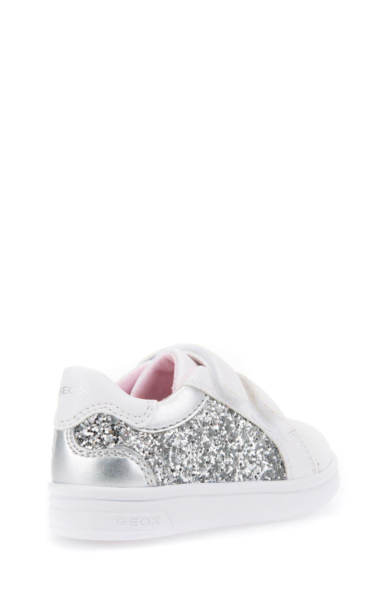 DJ Rock Glitter Low Top Sneaker,                             Alternate thumbnail 2, color,                             Silver