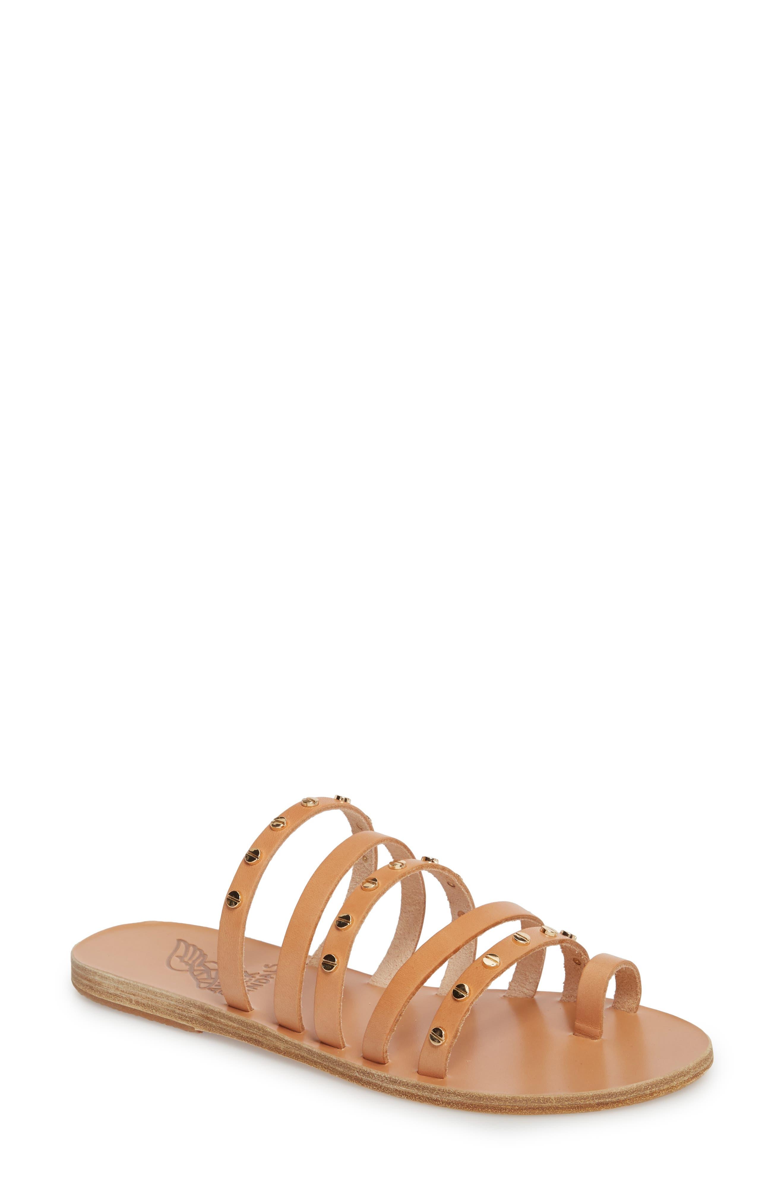 Niki Nails Sandal,                         Main,                         color, Natural