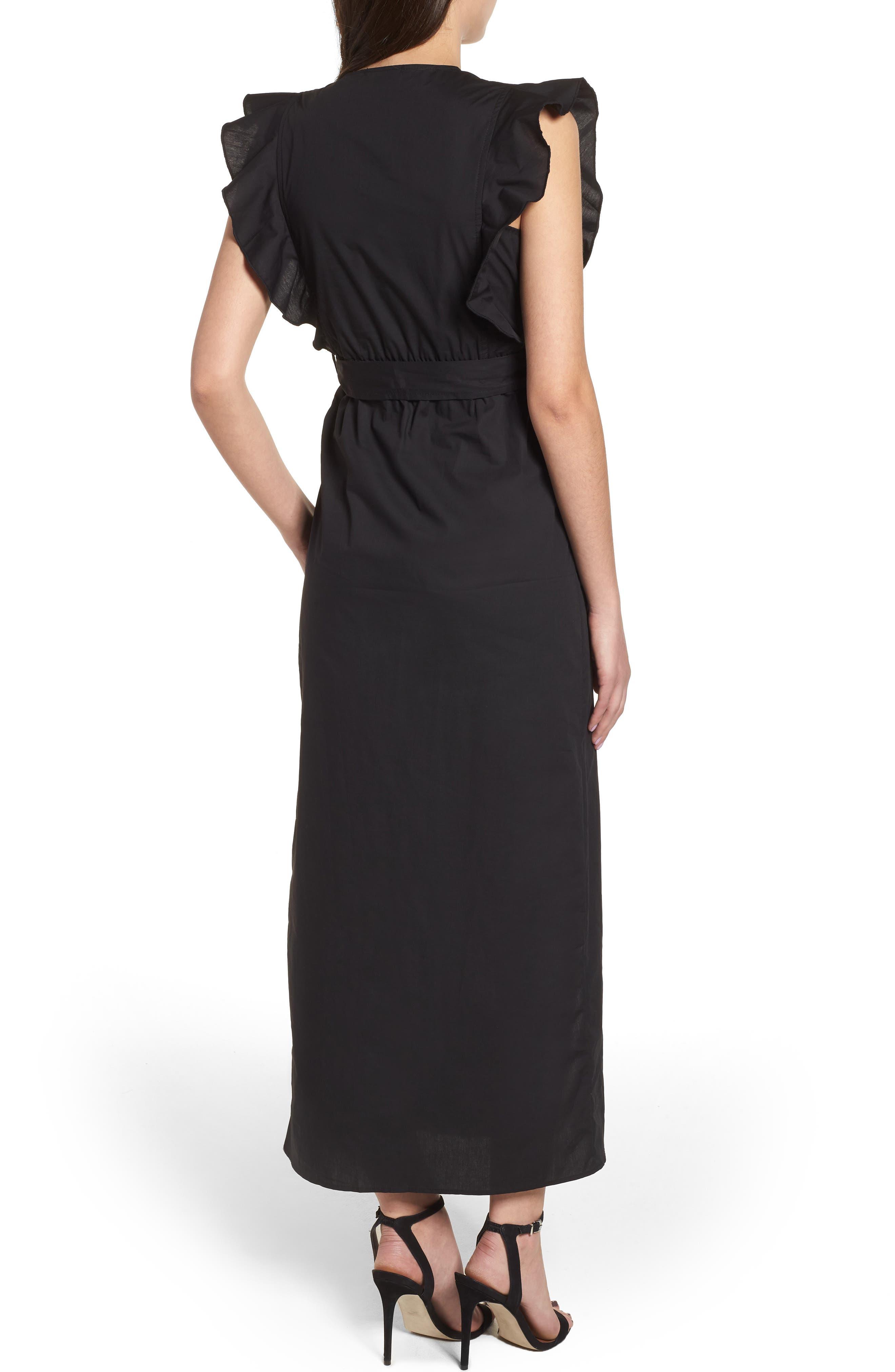 Delilah Maxi Dress,                             Alternate thumbnail 2, color,                             Black