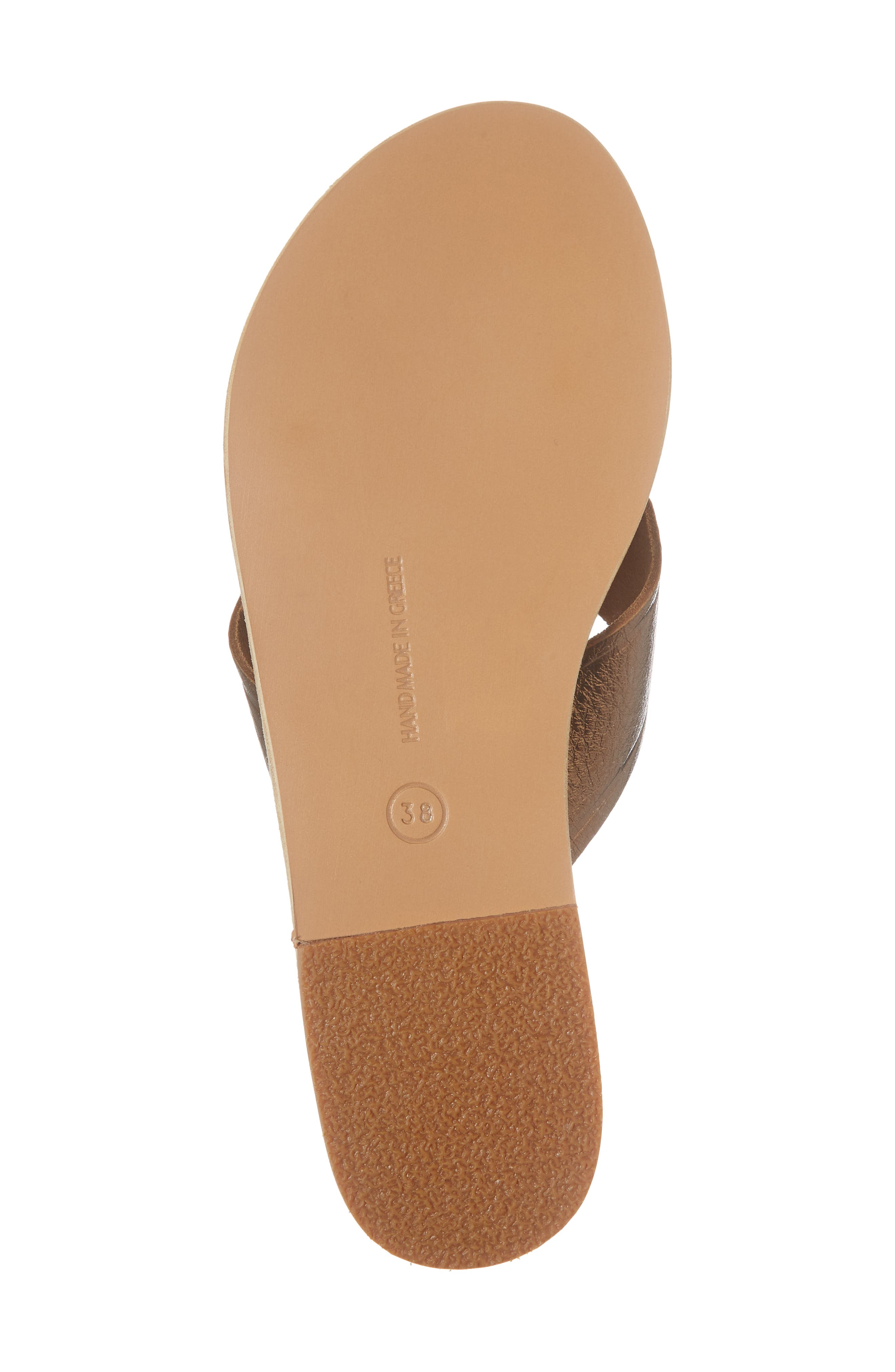 Thais Slide Sandal,                             Alternate thumbnail 6, color,                             Bronze/ Coco