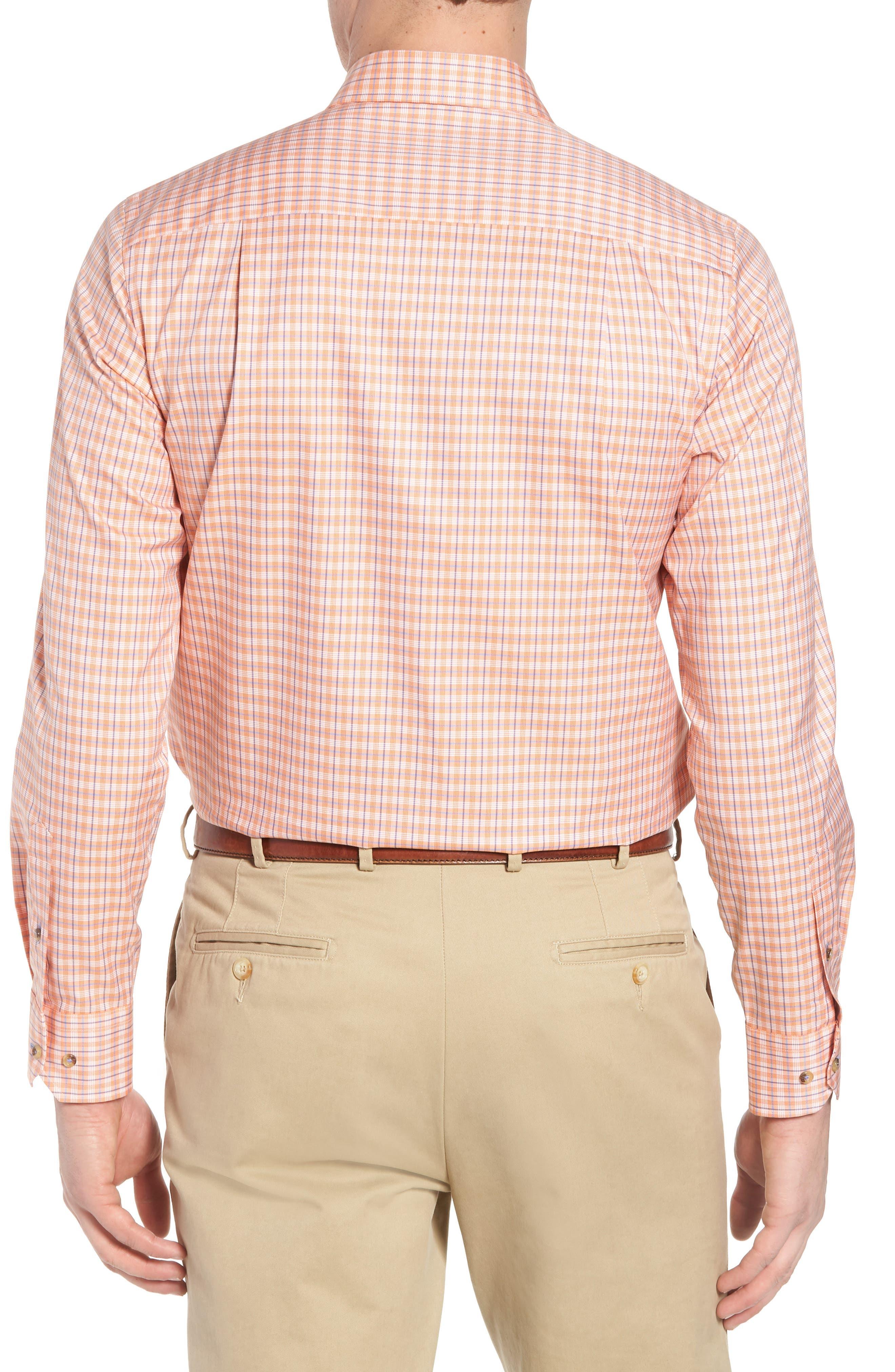 Regular Fit Plaid Sport Shirt,                             Alternate thumbnail 2, color,                             Melon