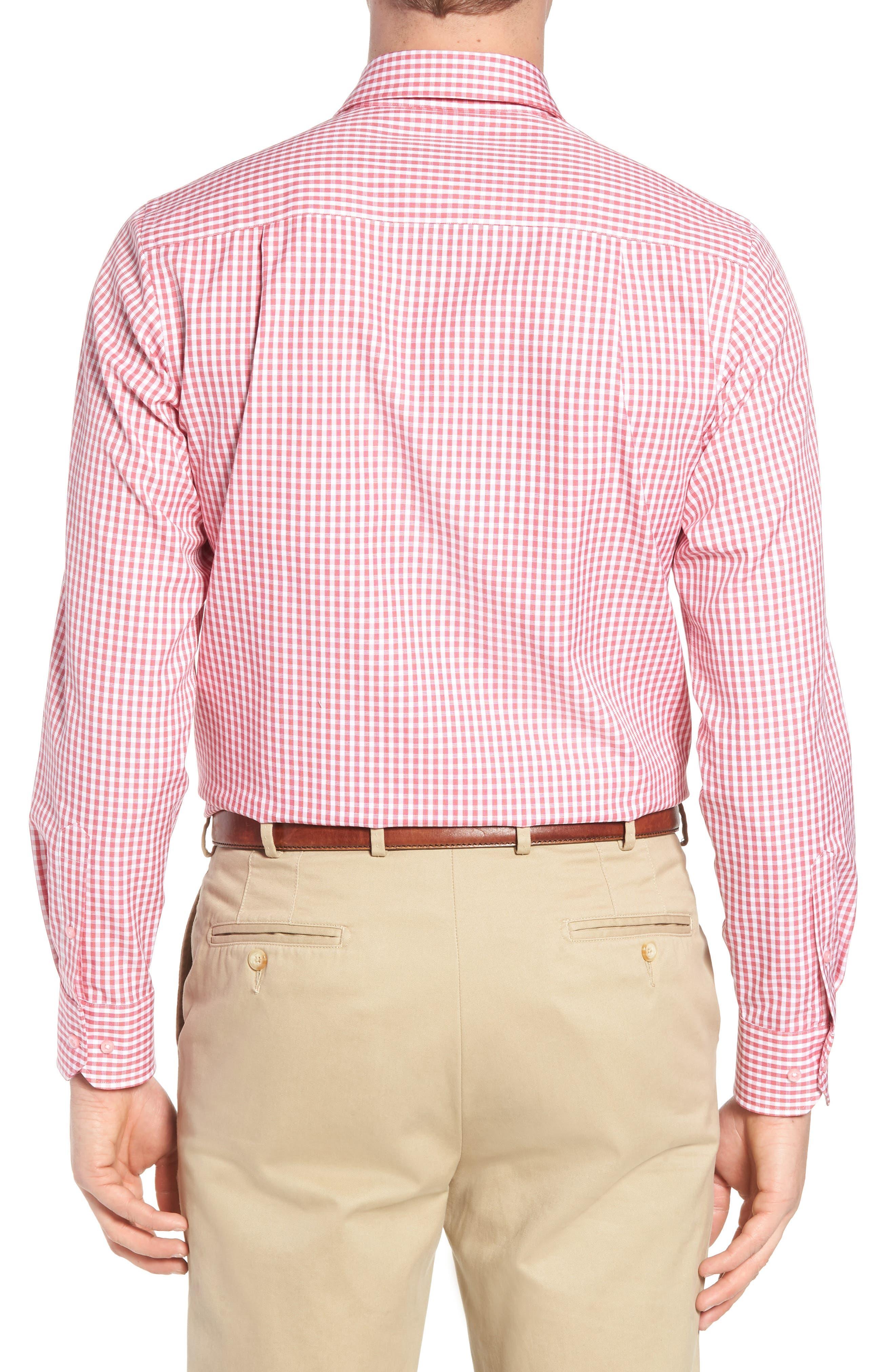 Check Cotton Sport Shirt,                             Alternate thumbnail 2, color,                             Pink