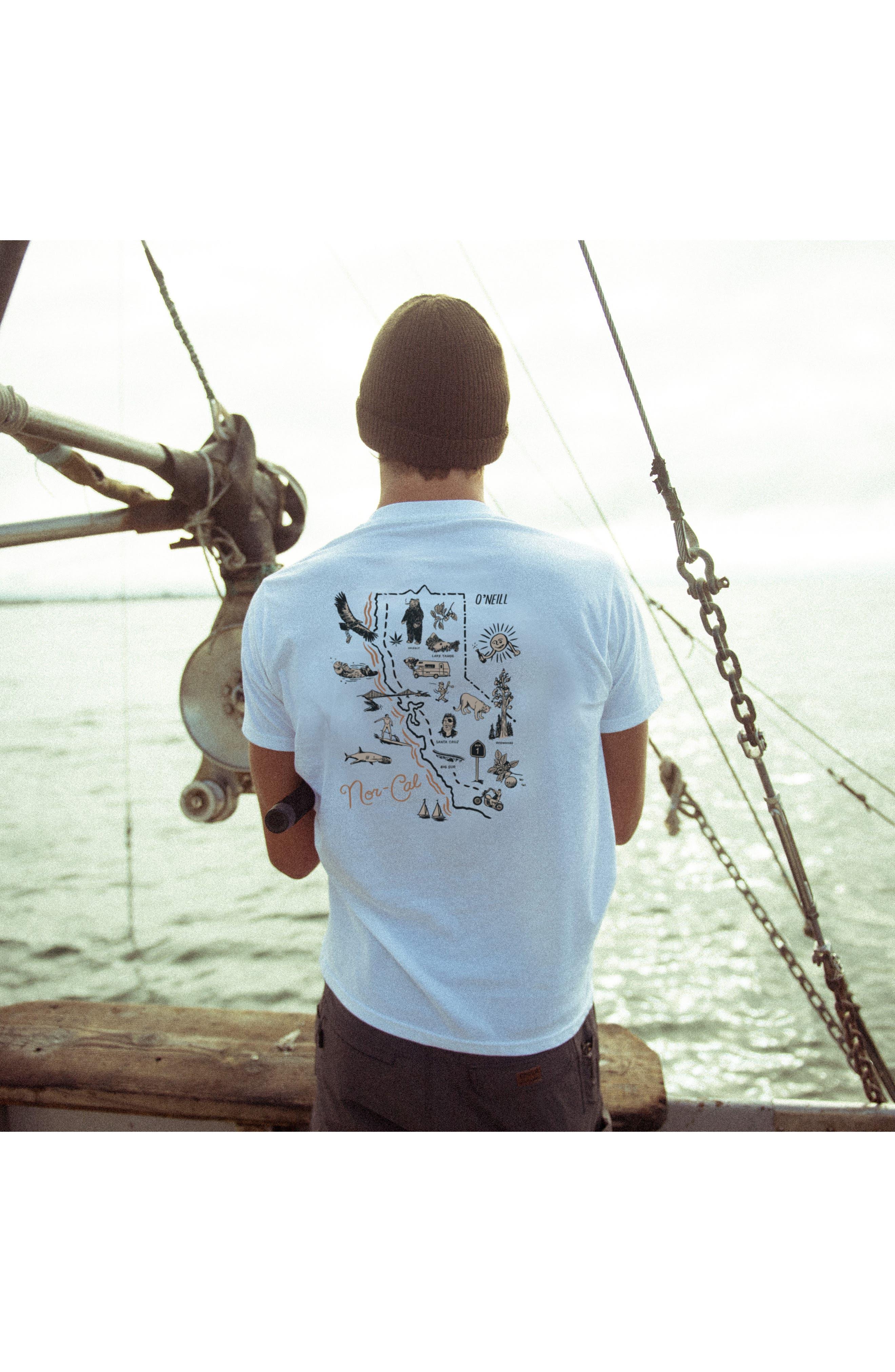 Norcal Graphic T-Shirt,                             Alternate thumbnail 7, color,                             White