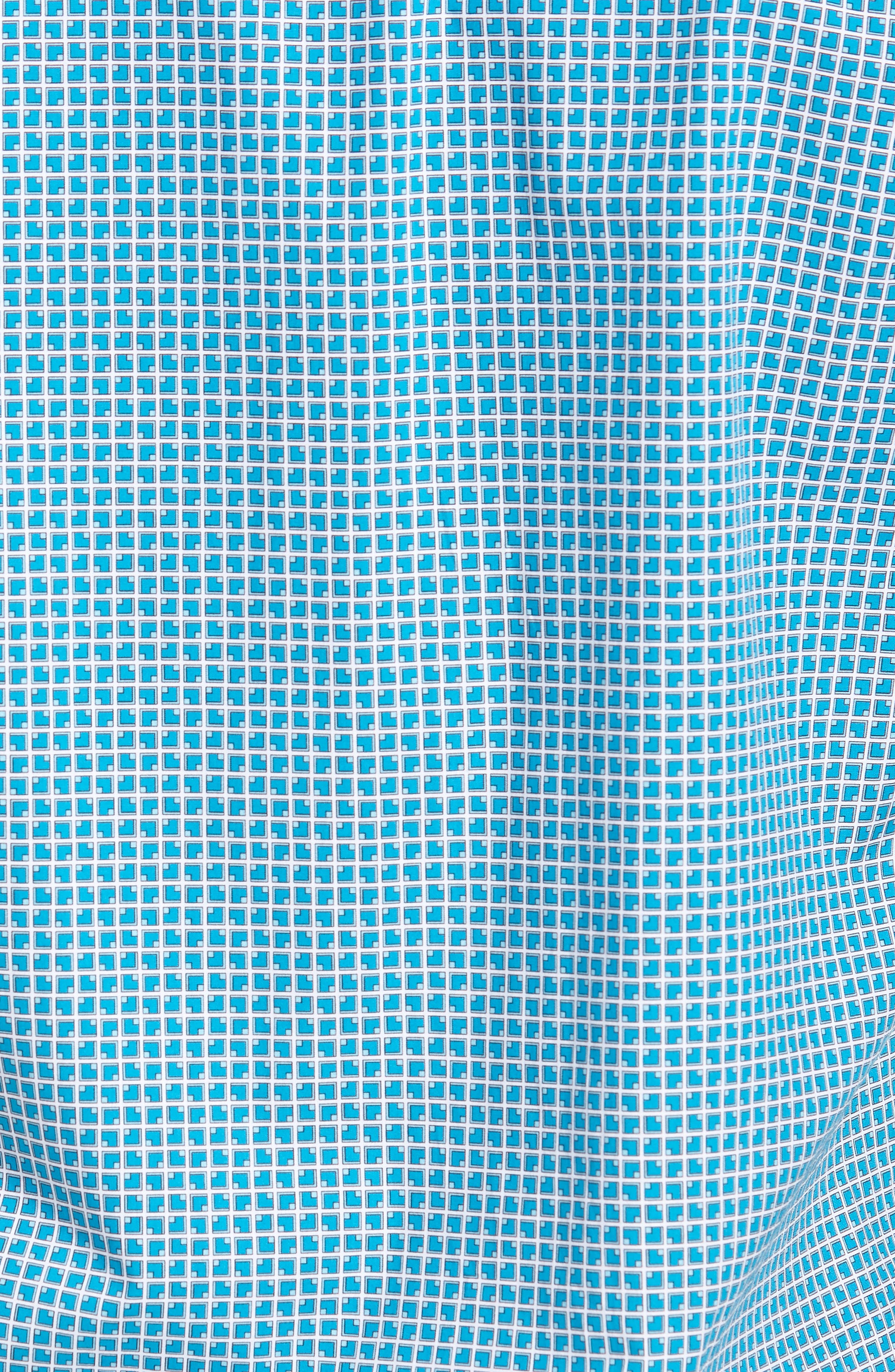 Shaped Fit Check Sport Shirt,                             Alternate thumbnail 5, color,                             Turquoise