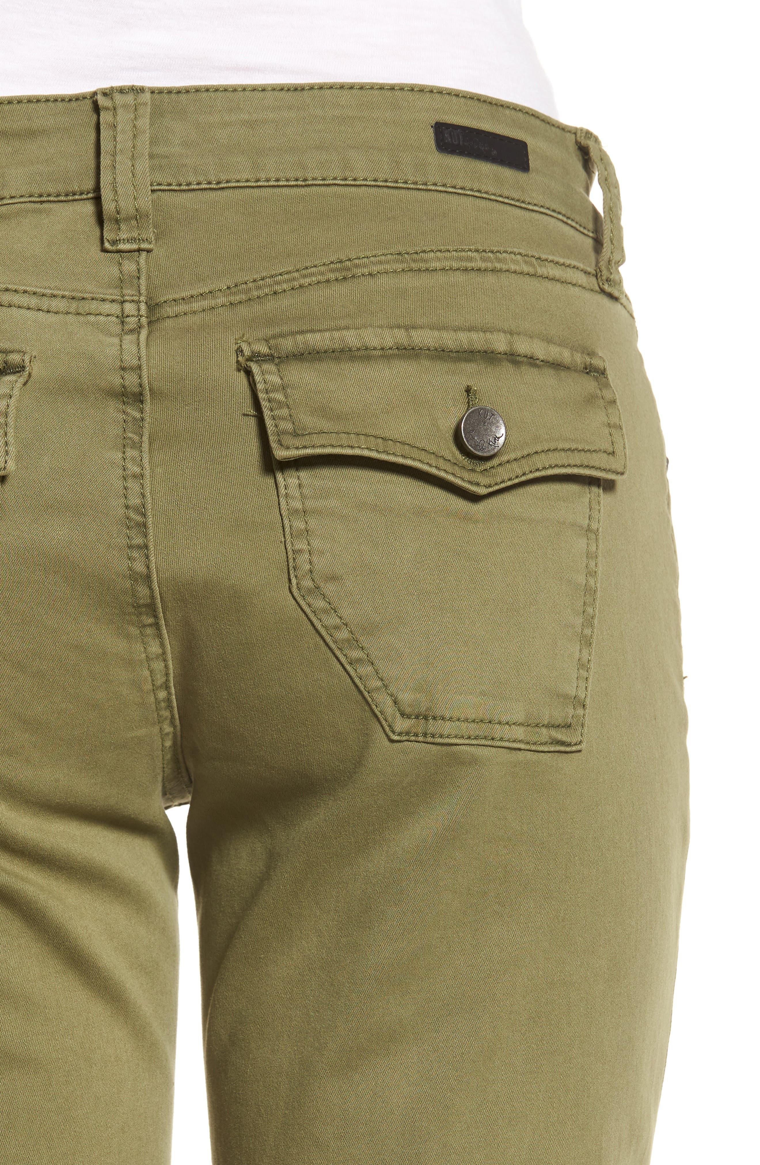 Natalie Bermuda Shorts,                             Alternate thumbnail 4, color,                             Olive