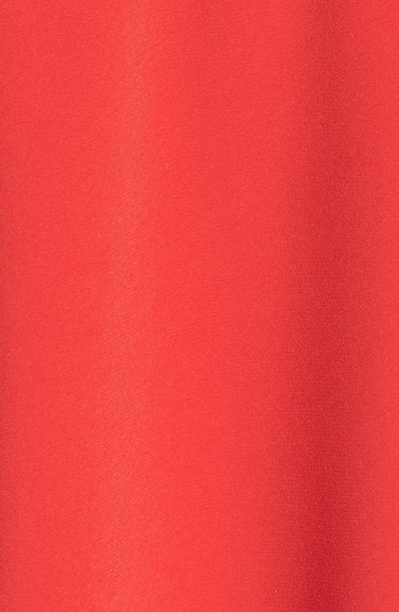 Tie Waist Shirtdress,                             Alternate thumbnail 5, color,                             Tomato