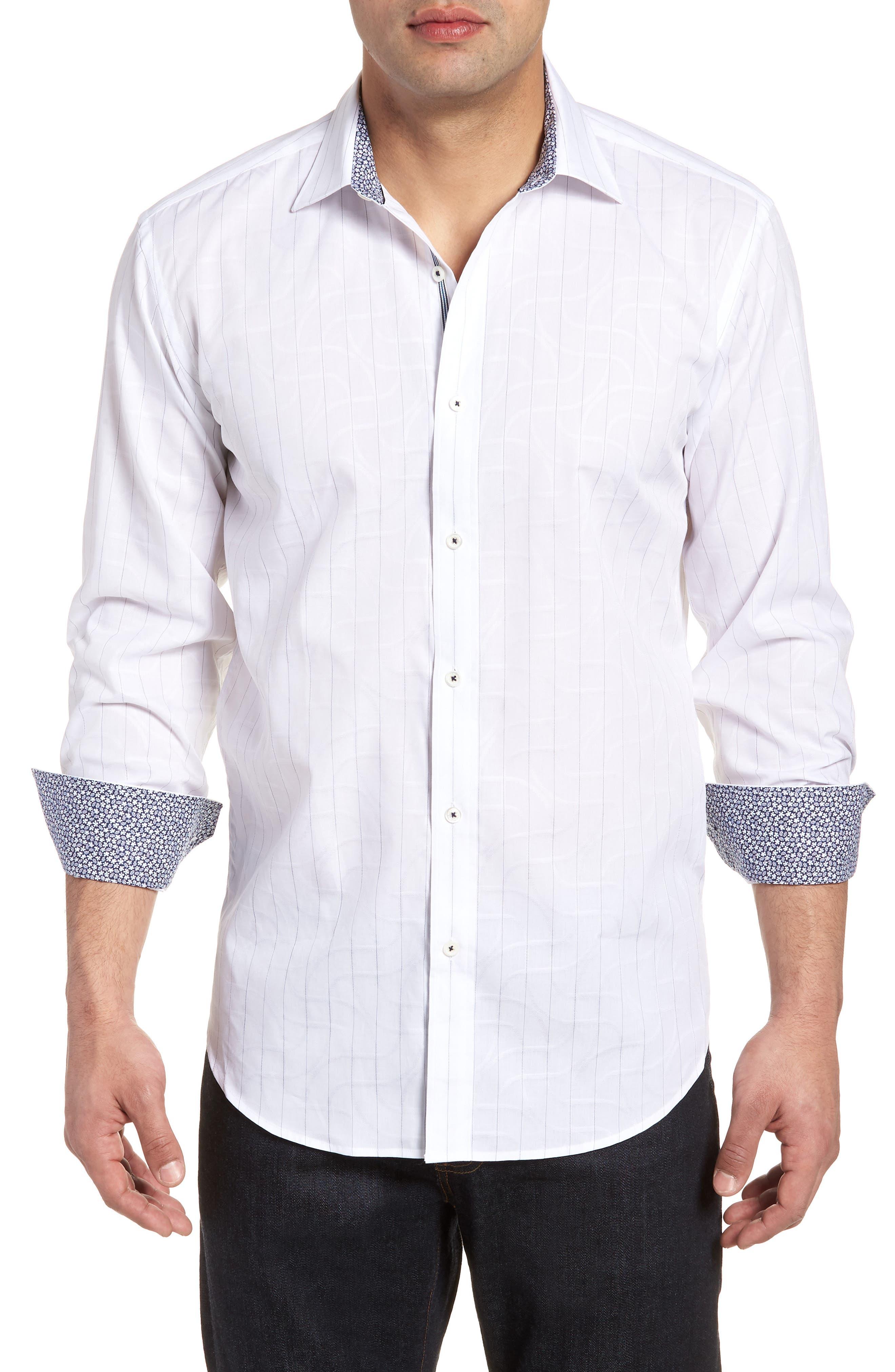 Woven Sport Shirt,                             Main thumbnail 1, color,                             White