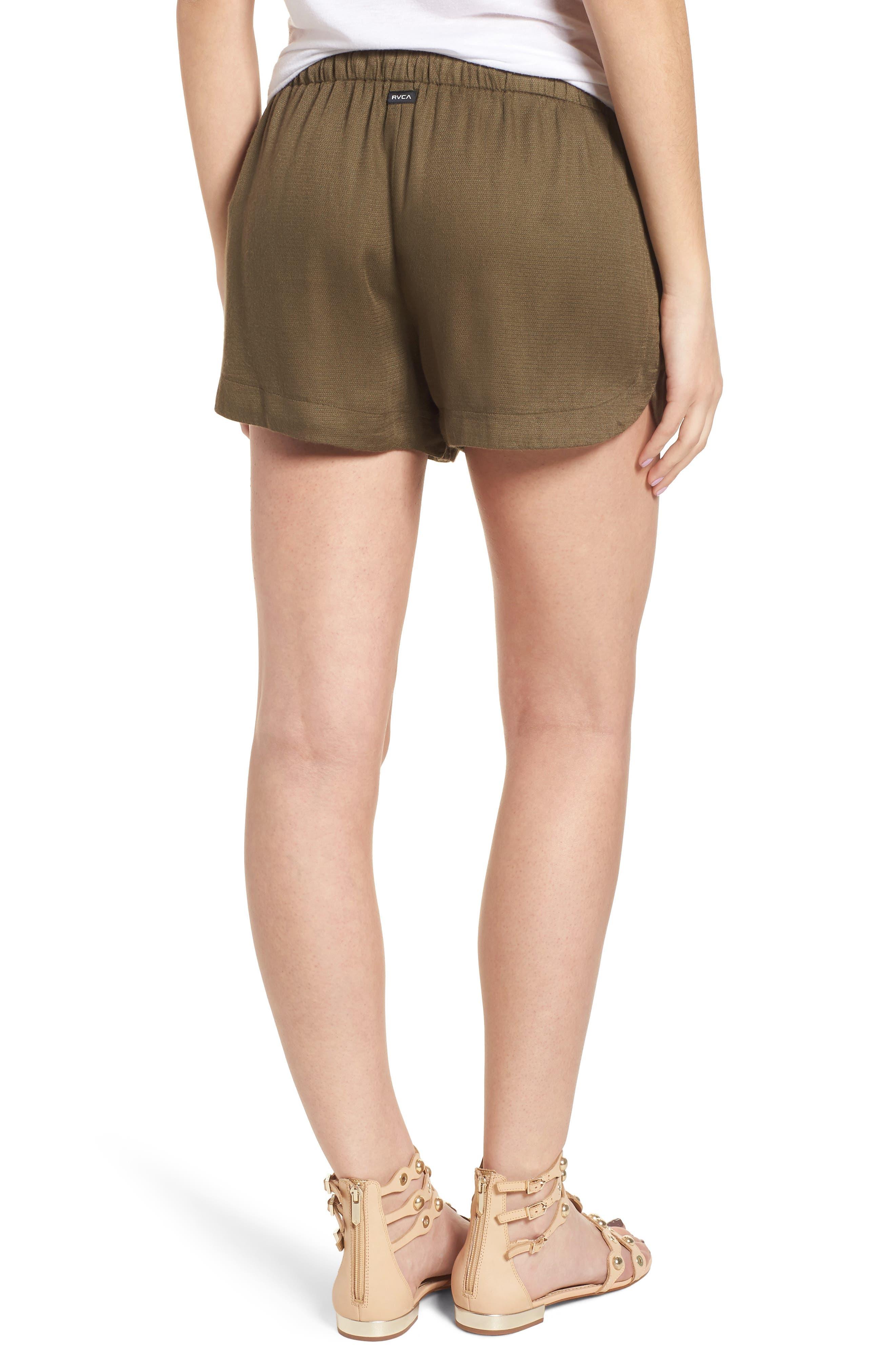 Vary Yume Shorts,                             Alternate thumbnail 2, color,                             Burnt Olive