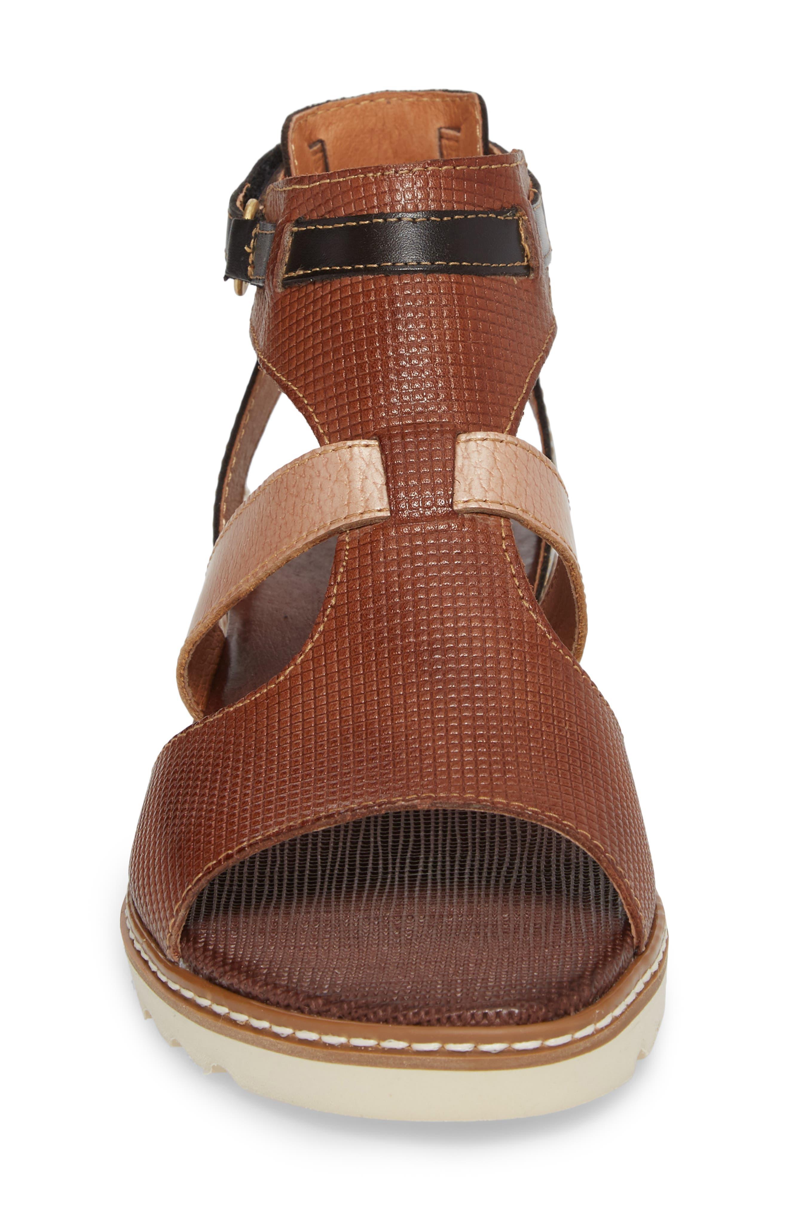 Alcudia Sandal,                             Alternate thumbnail 4, color,                             Cuero Leather