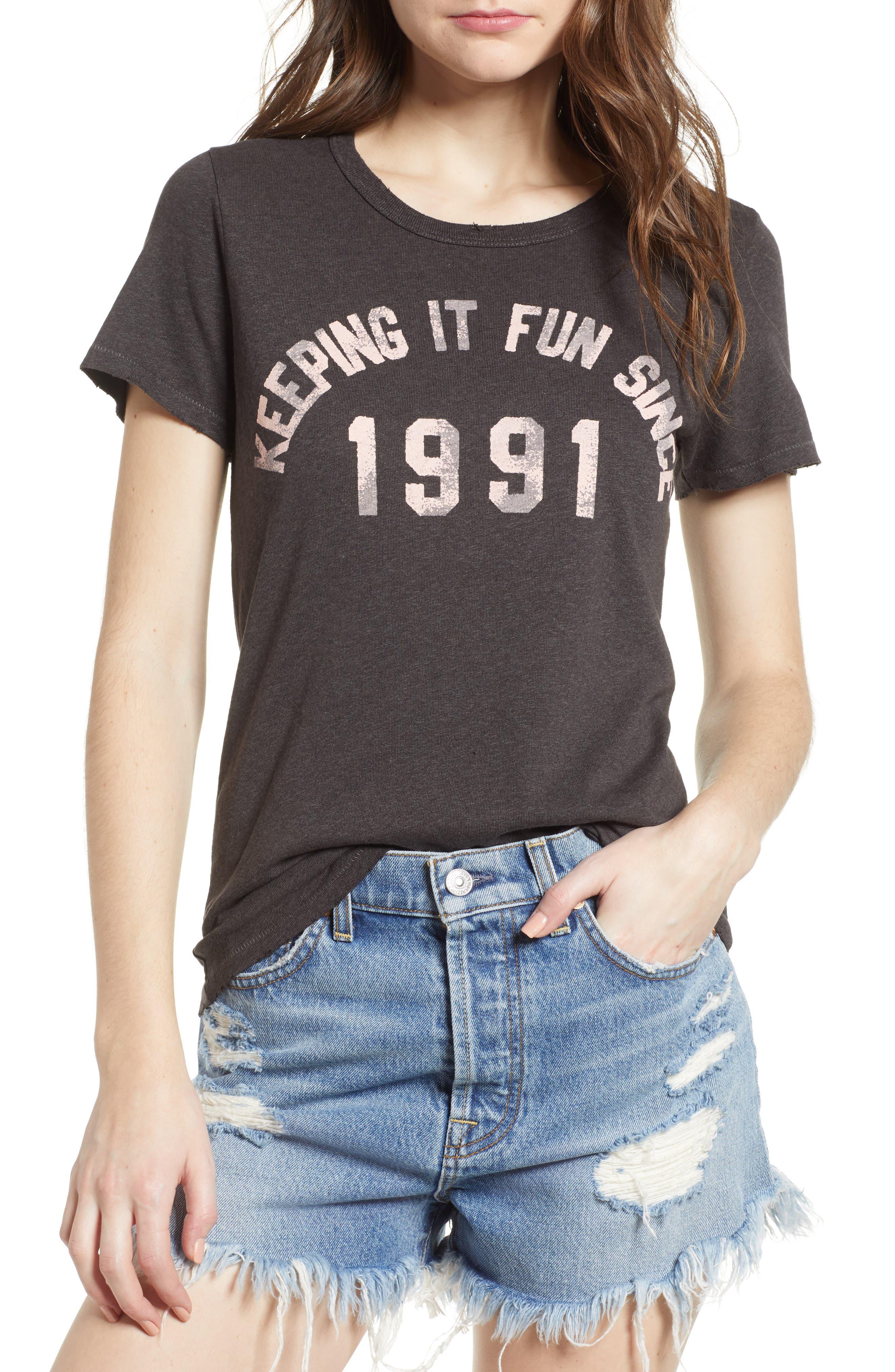 Keeping It Fun Since 1991 Tee,                         Main,                         color, Vintage Black