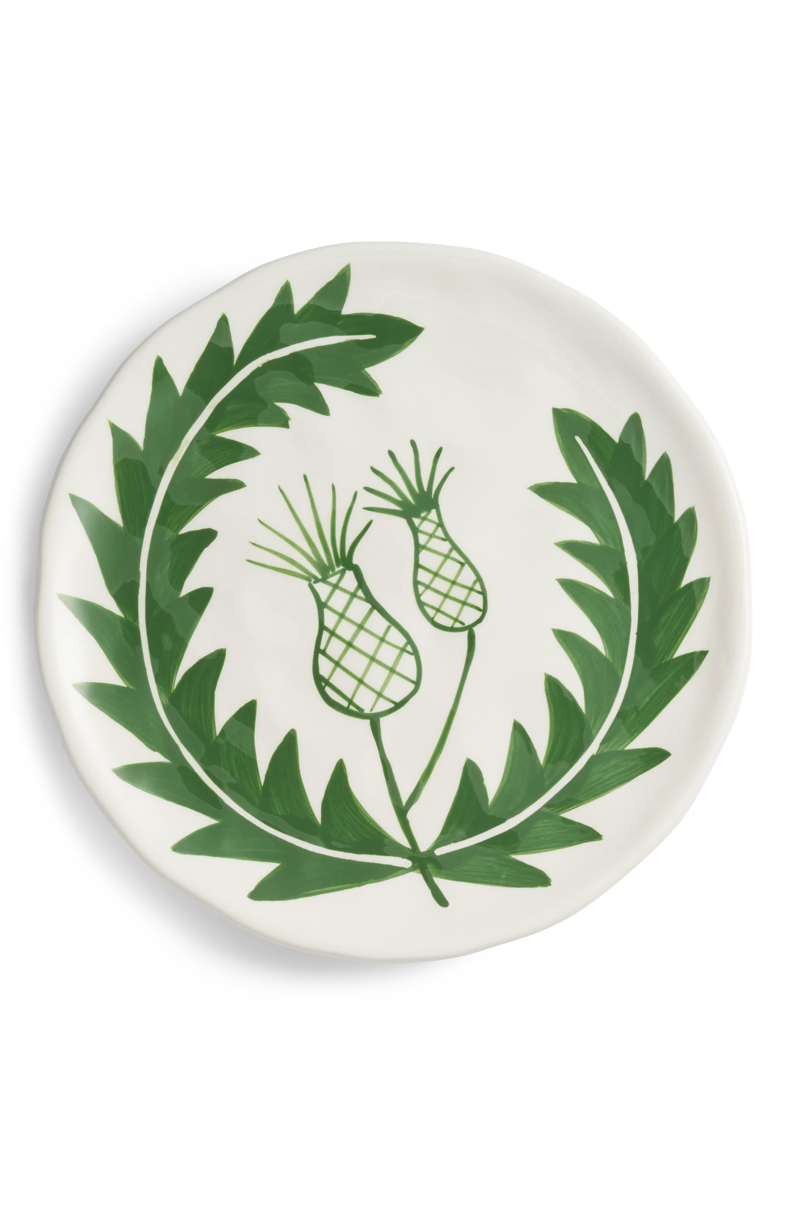 Hand Painted Plate,                         Main,                         color, Green