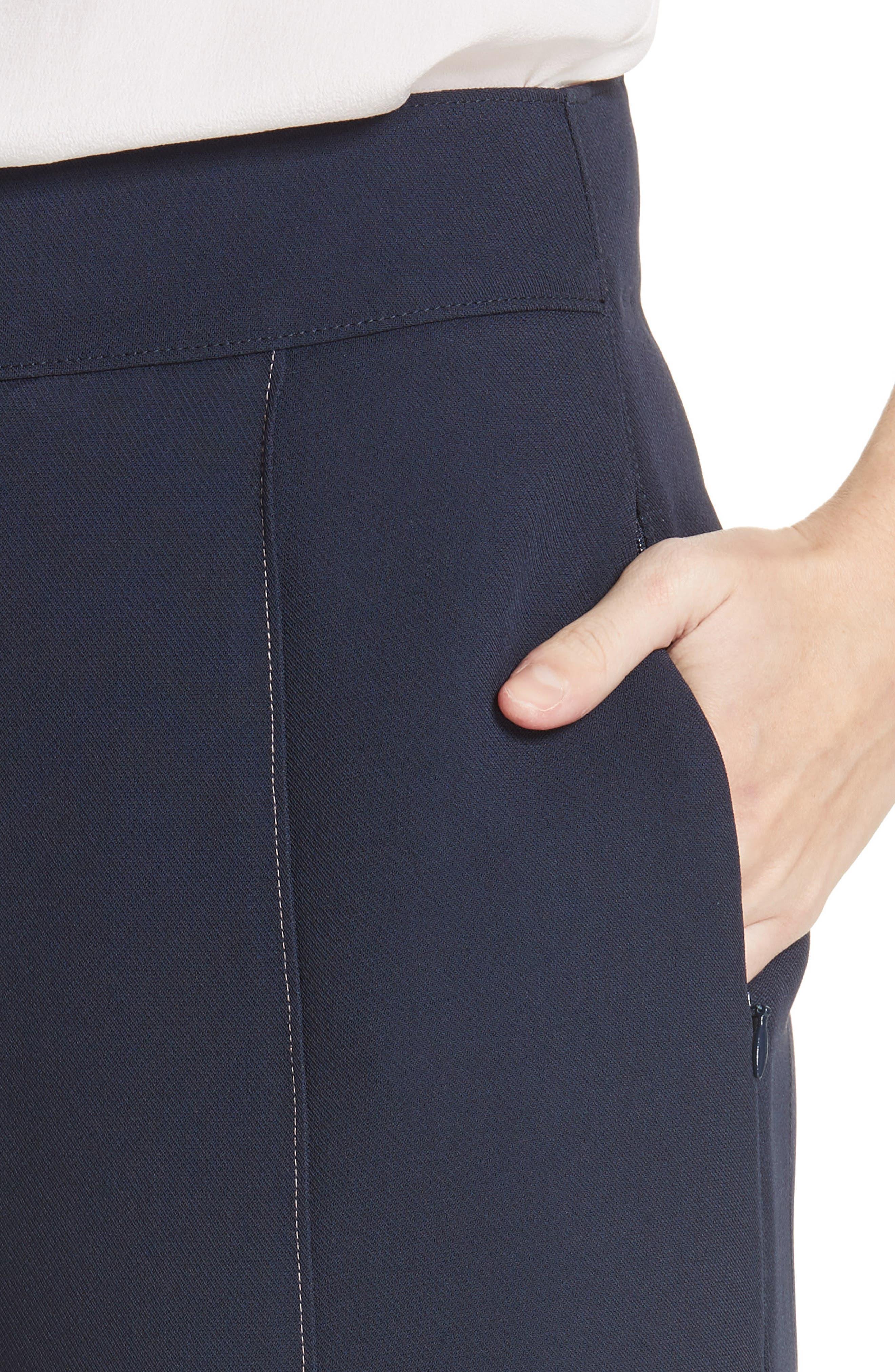 Lapari Pintuck Trousers,                             Alternate thumbnail 4, color,                             Navy