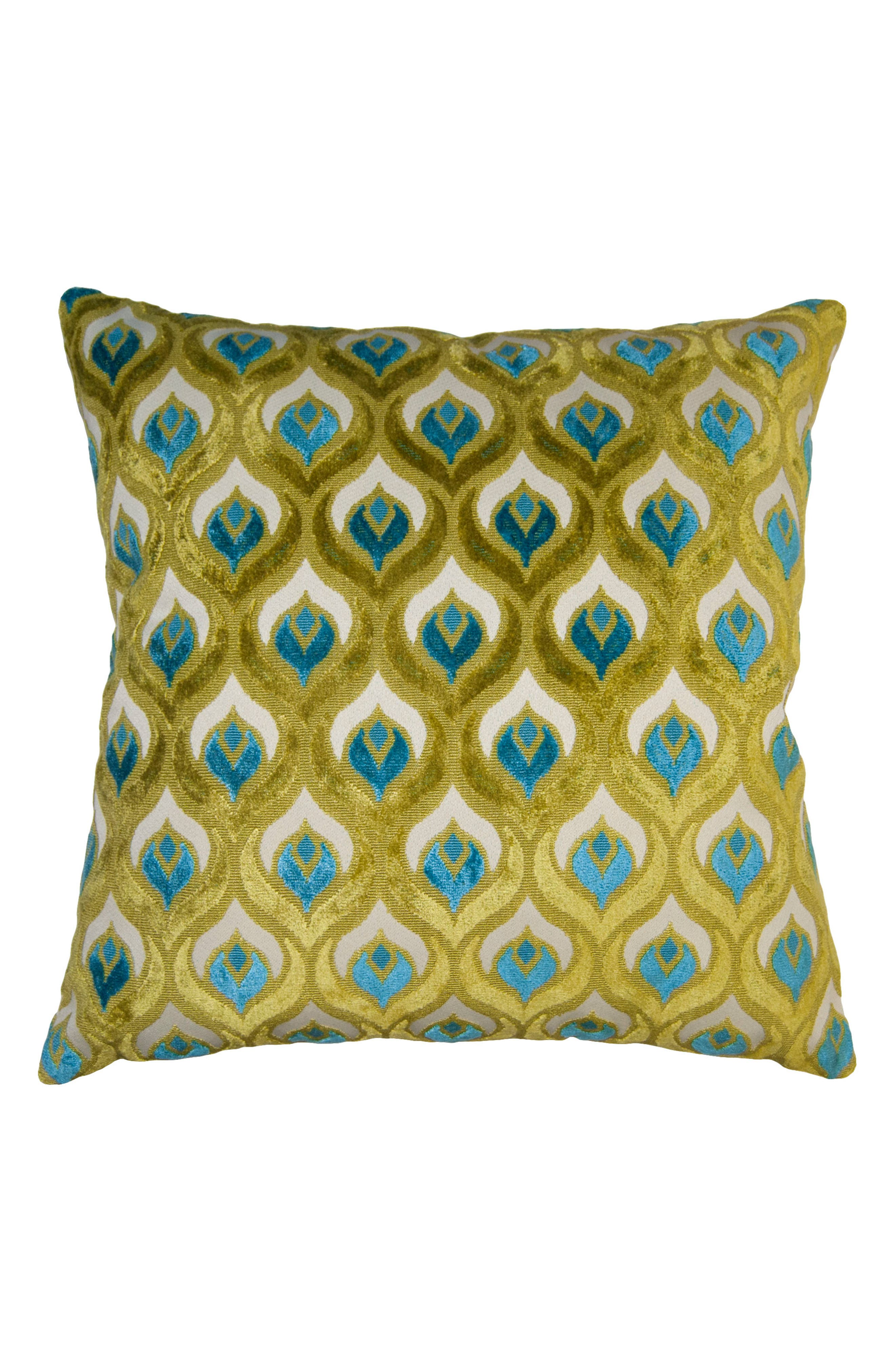 Riviera Ornate Accent Pillow,                         Main,                         color, Green