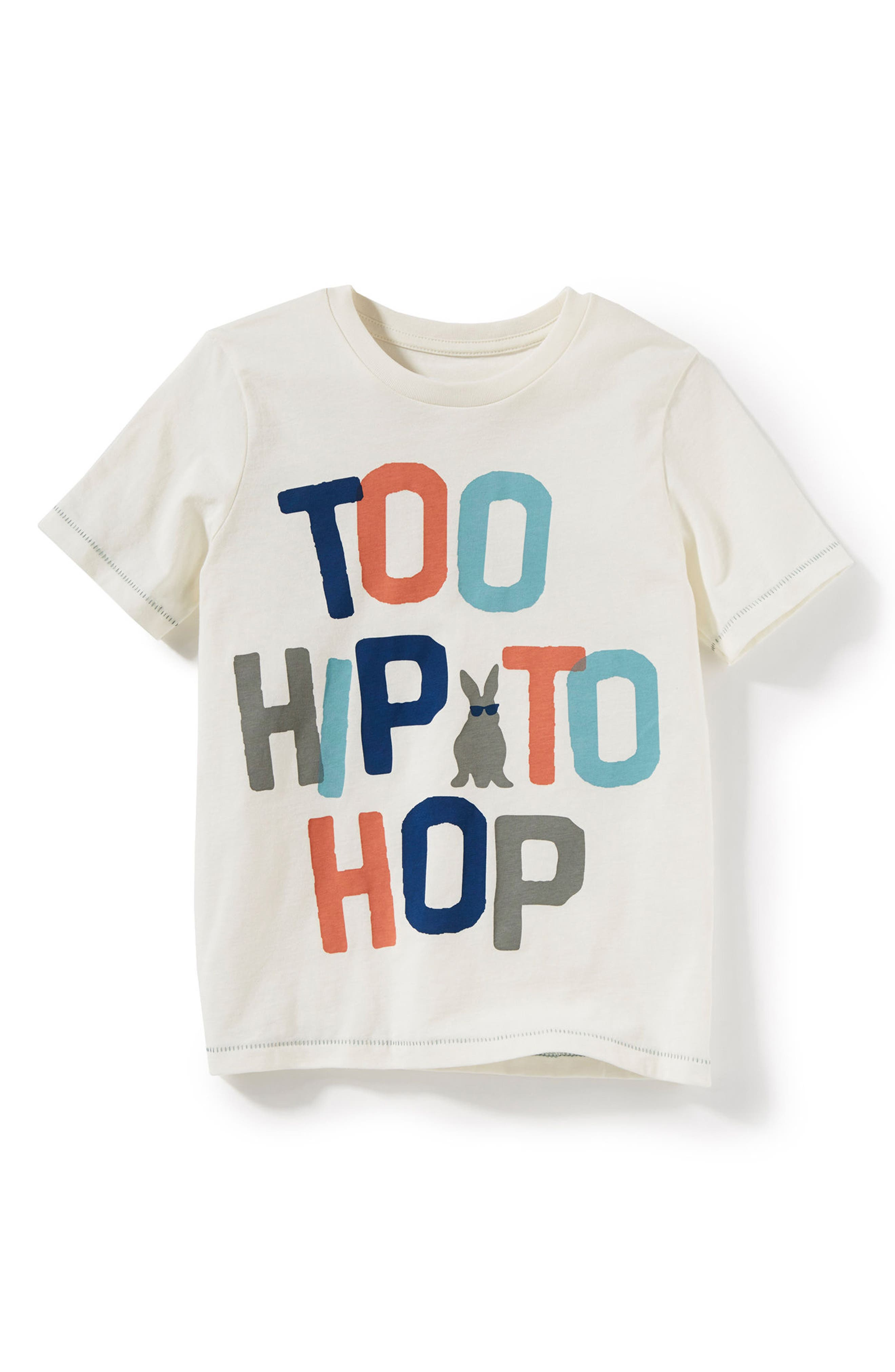 Too Hip To Hop Graphic T-Shirt,                             Main thumbnail 1, color,                             Ivory