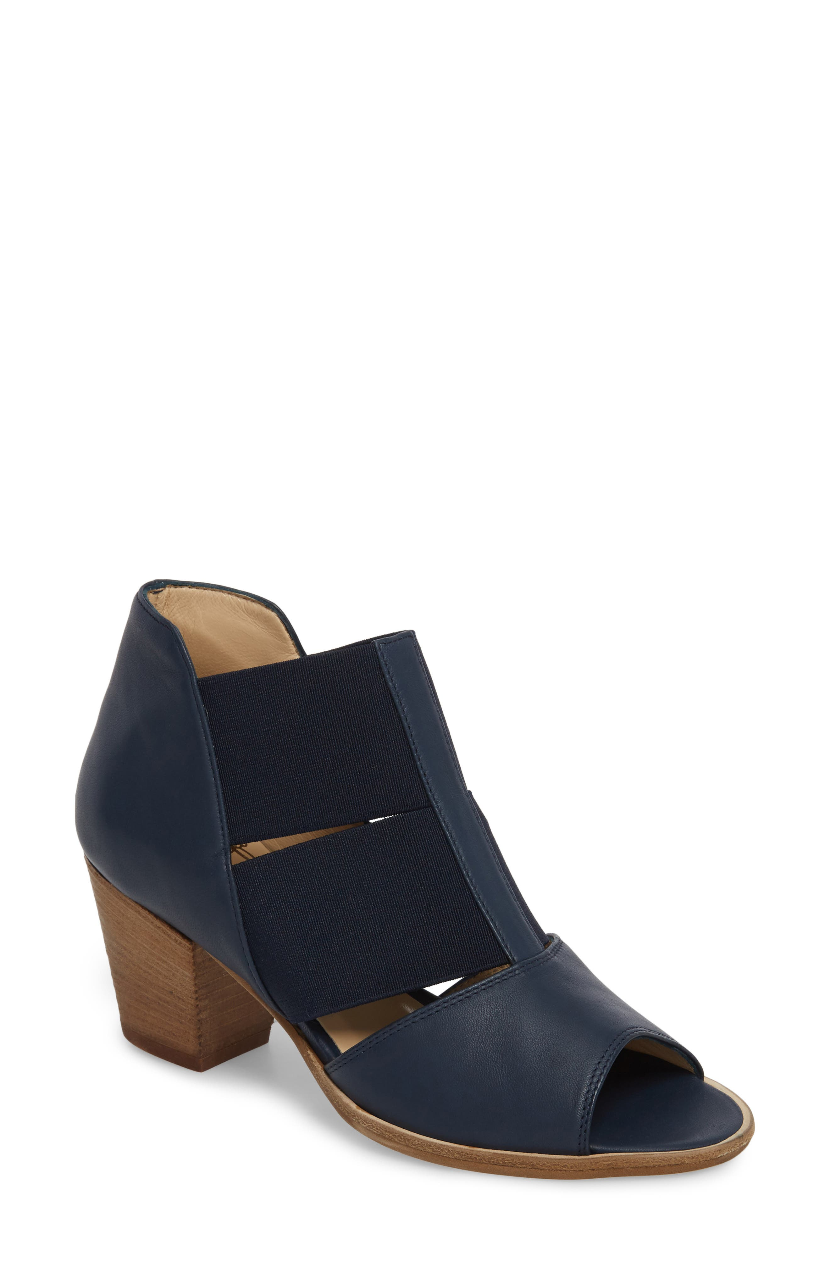 AMALFI BY RANGONI Cestello Bootie in Blue/ Green Leather