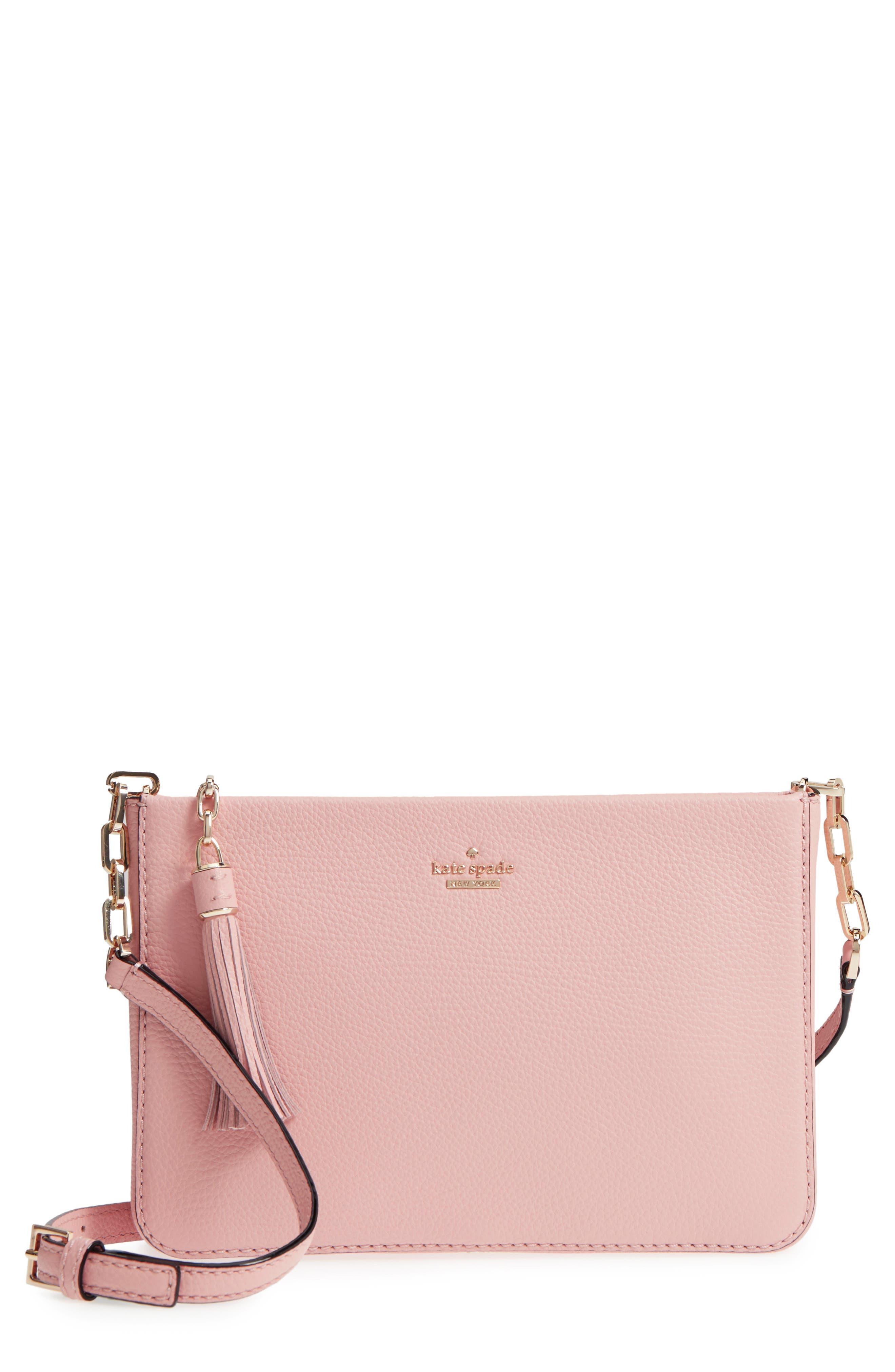 kingston drive - alessa leather shoulder/crossbody bag,                         Main,                         color, Warm Vellum