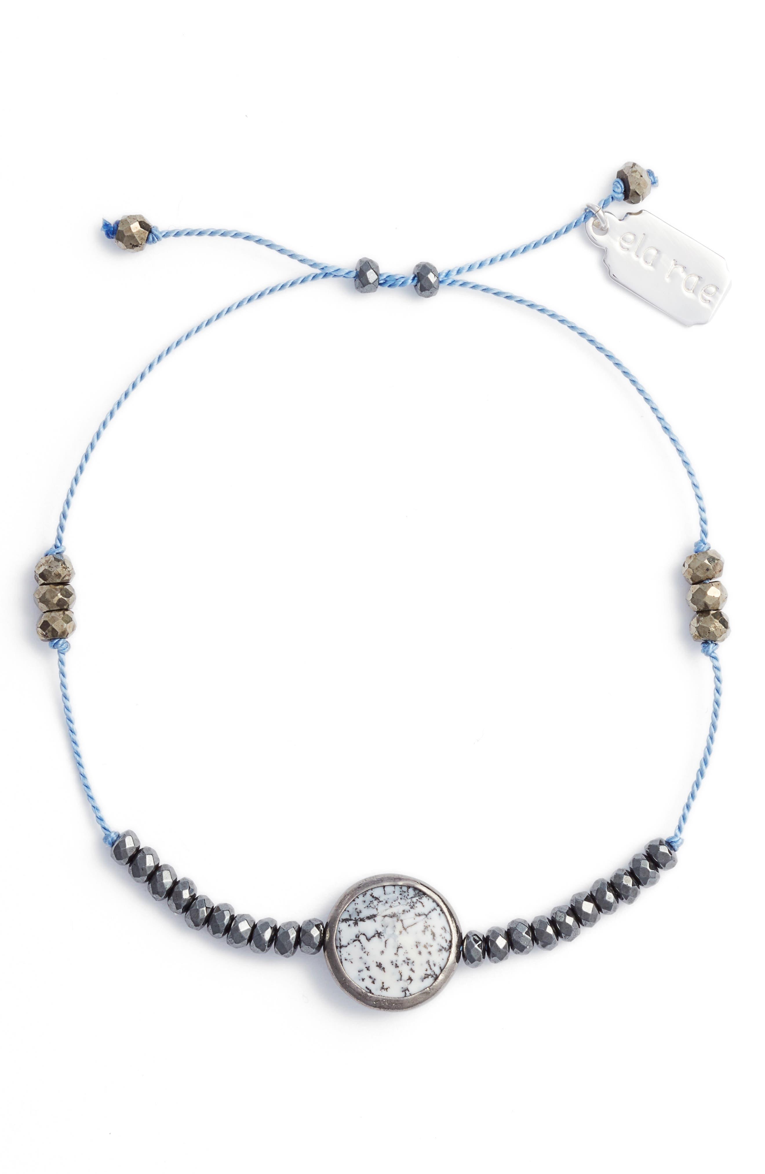 Sylvie Semiprecious Stone Bracelet,                             Main thumbnail 1, color,                             Cornflower Blue/ Hematite
