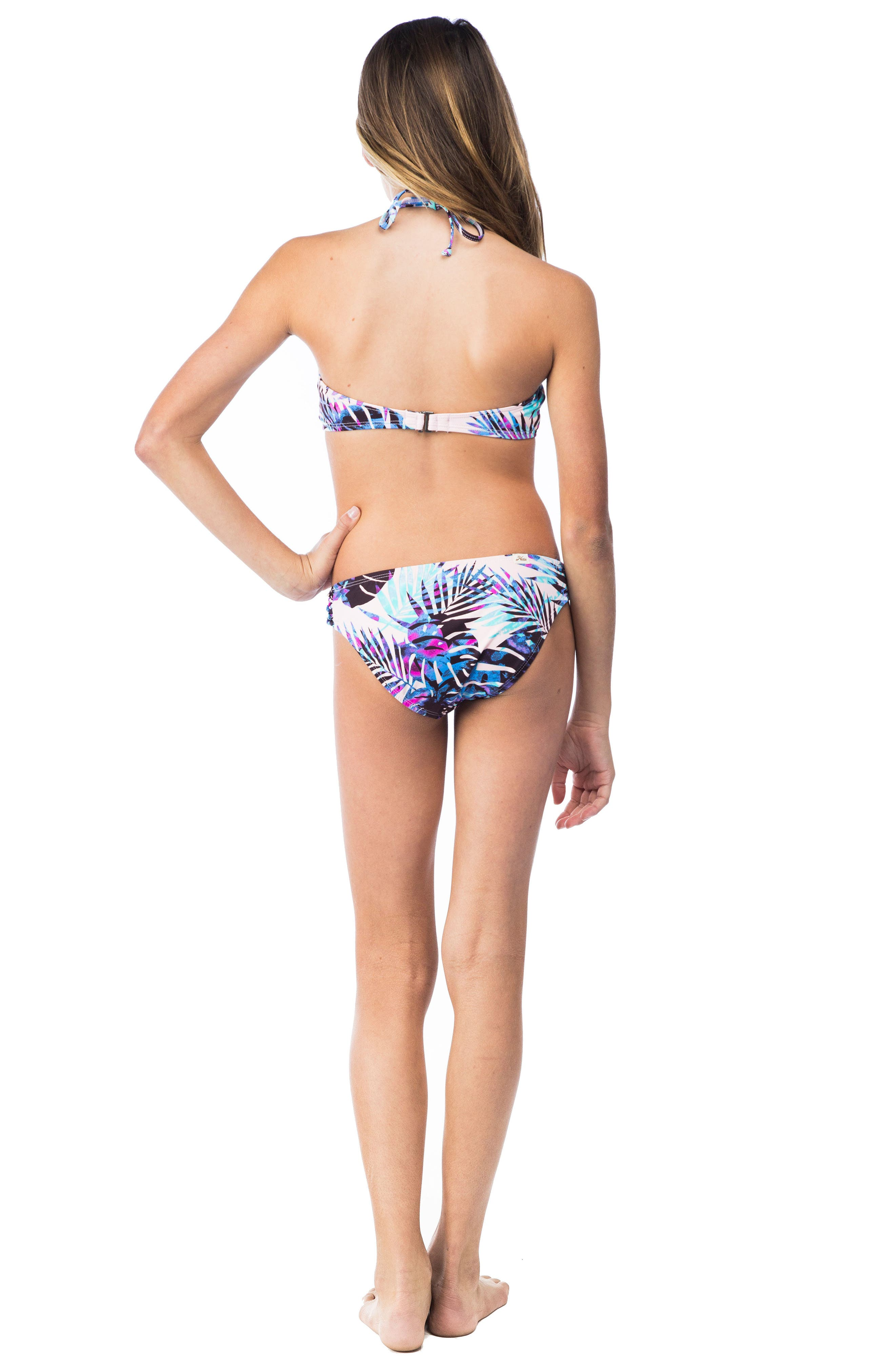 Take It Or Leaf It Two-Piece Swimsuit,                             Alternate thumbnail 4, color,                             Pop Pink