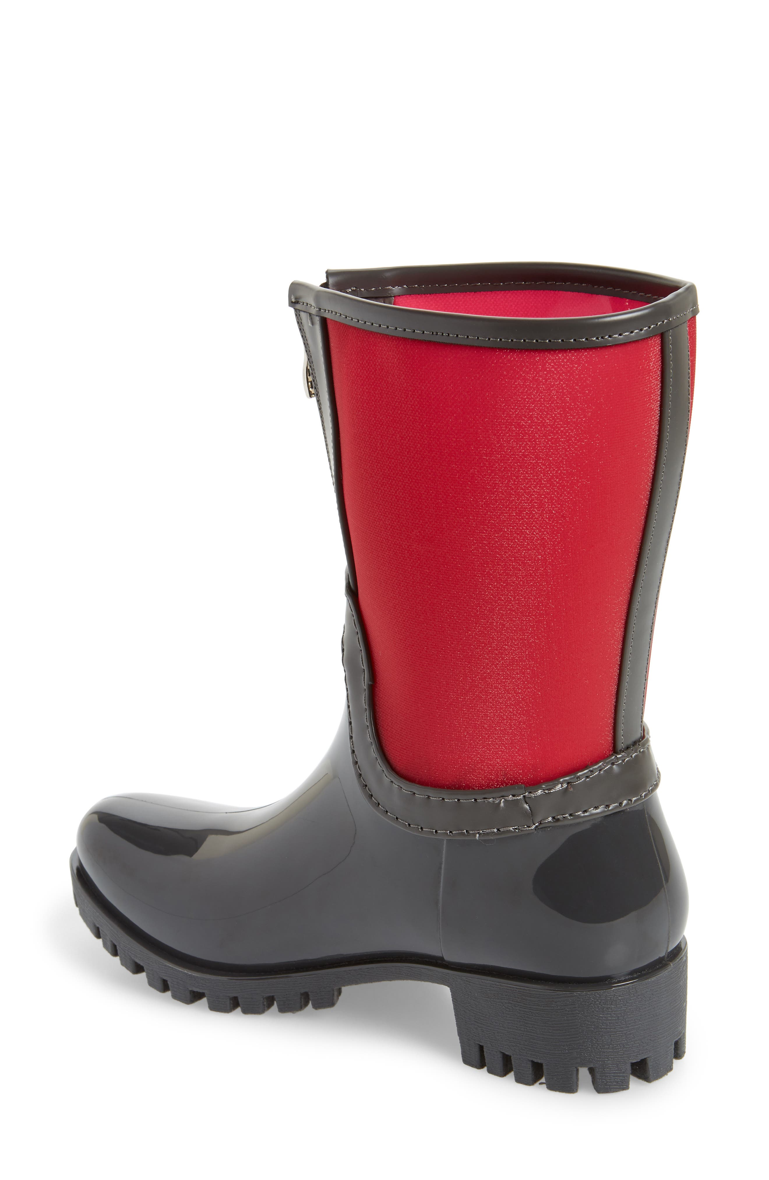 Dryden Sheer Waterproof Boot,                             Alternate thumbnail 2, color,                             Berry Fabric