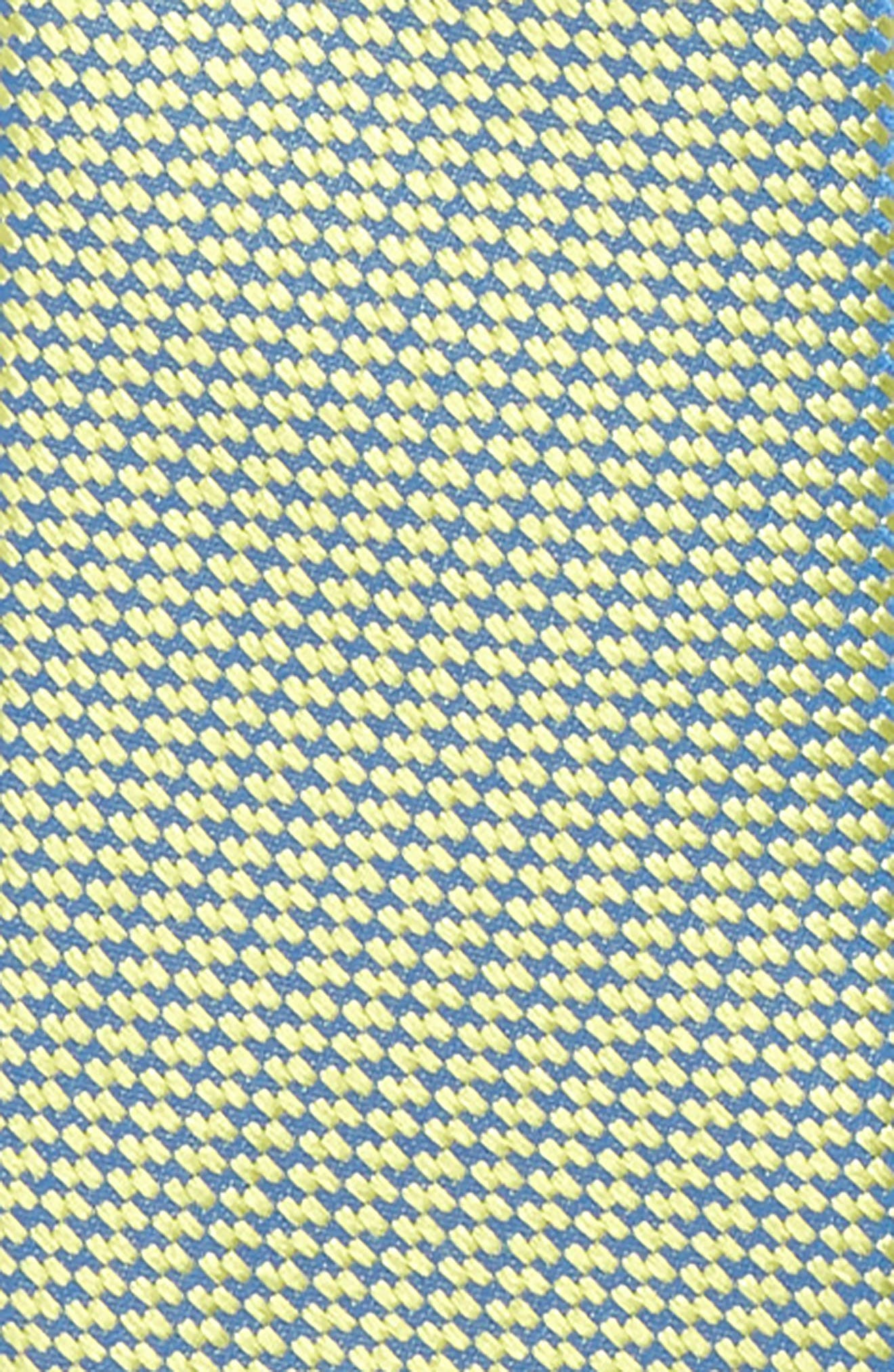 Digital Neat Silk Zip Tie,                             Alternate thumbnail 2, color,                             Lemon