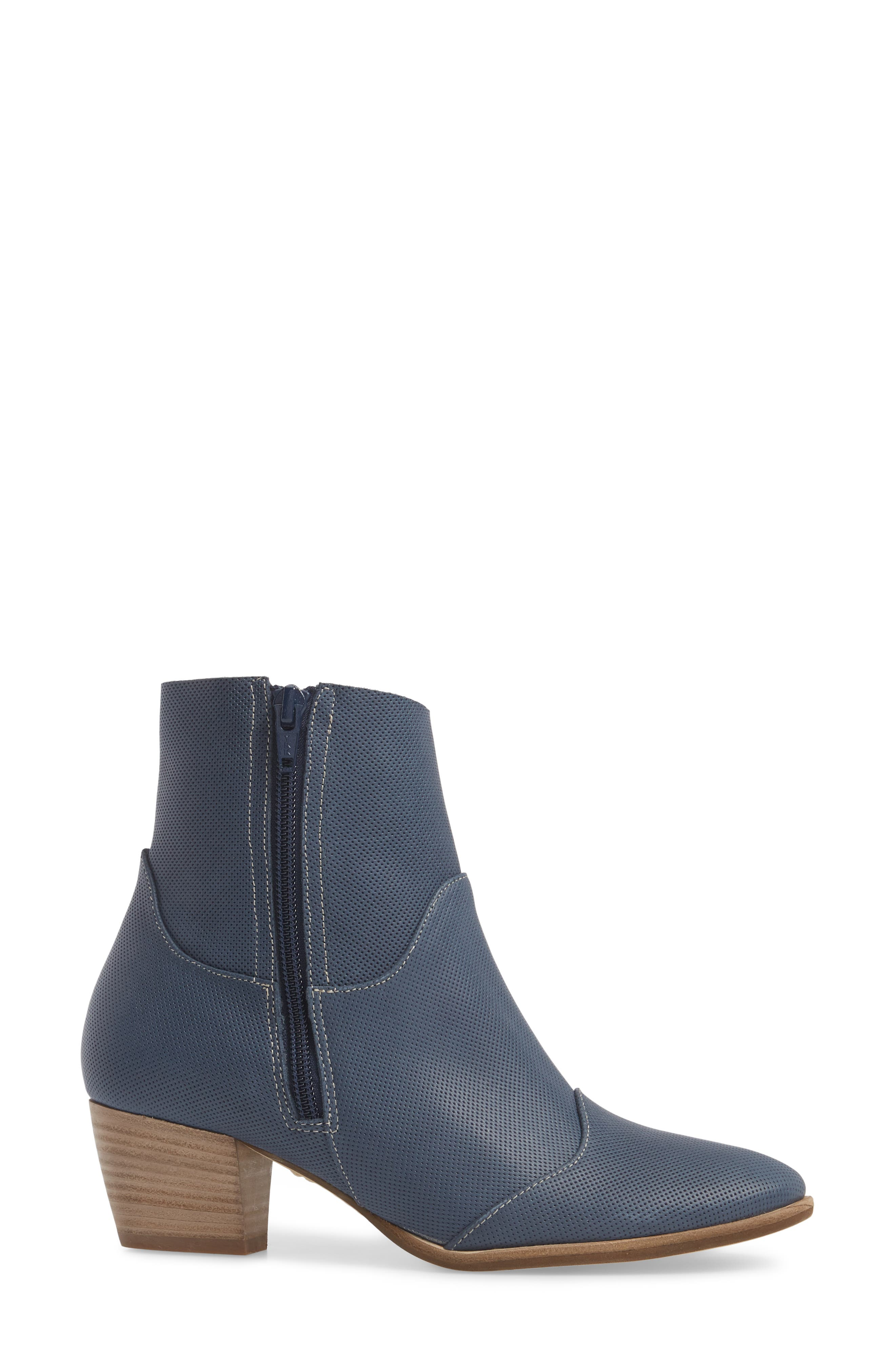 Robin Bootie,                             Alternate thumbnail 3, color,                             Blue Leather