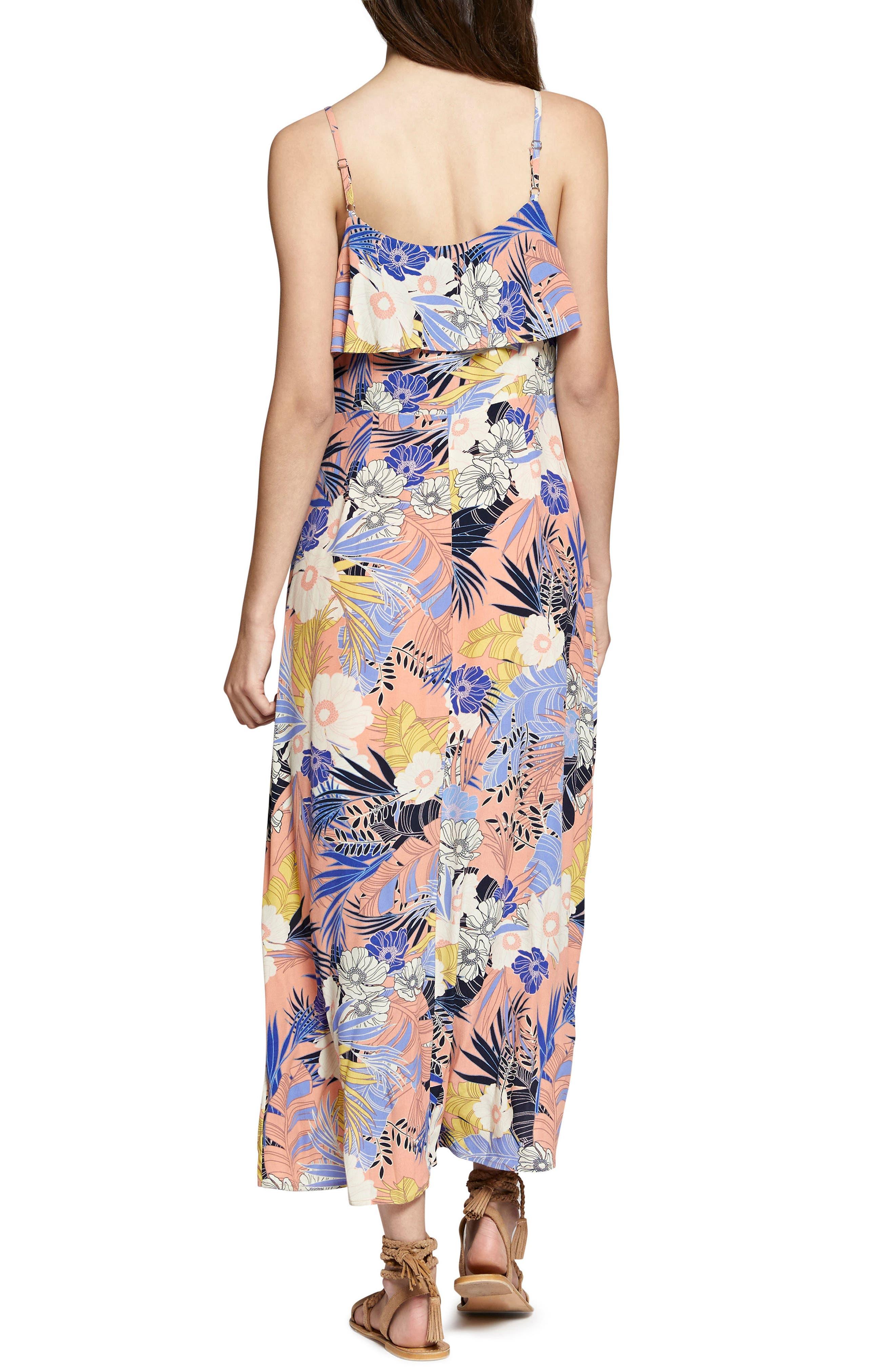 Isabella Print Maxi Dress,                             Alternate thumbnail 2, color,                             Papaya Love