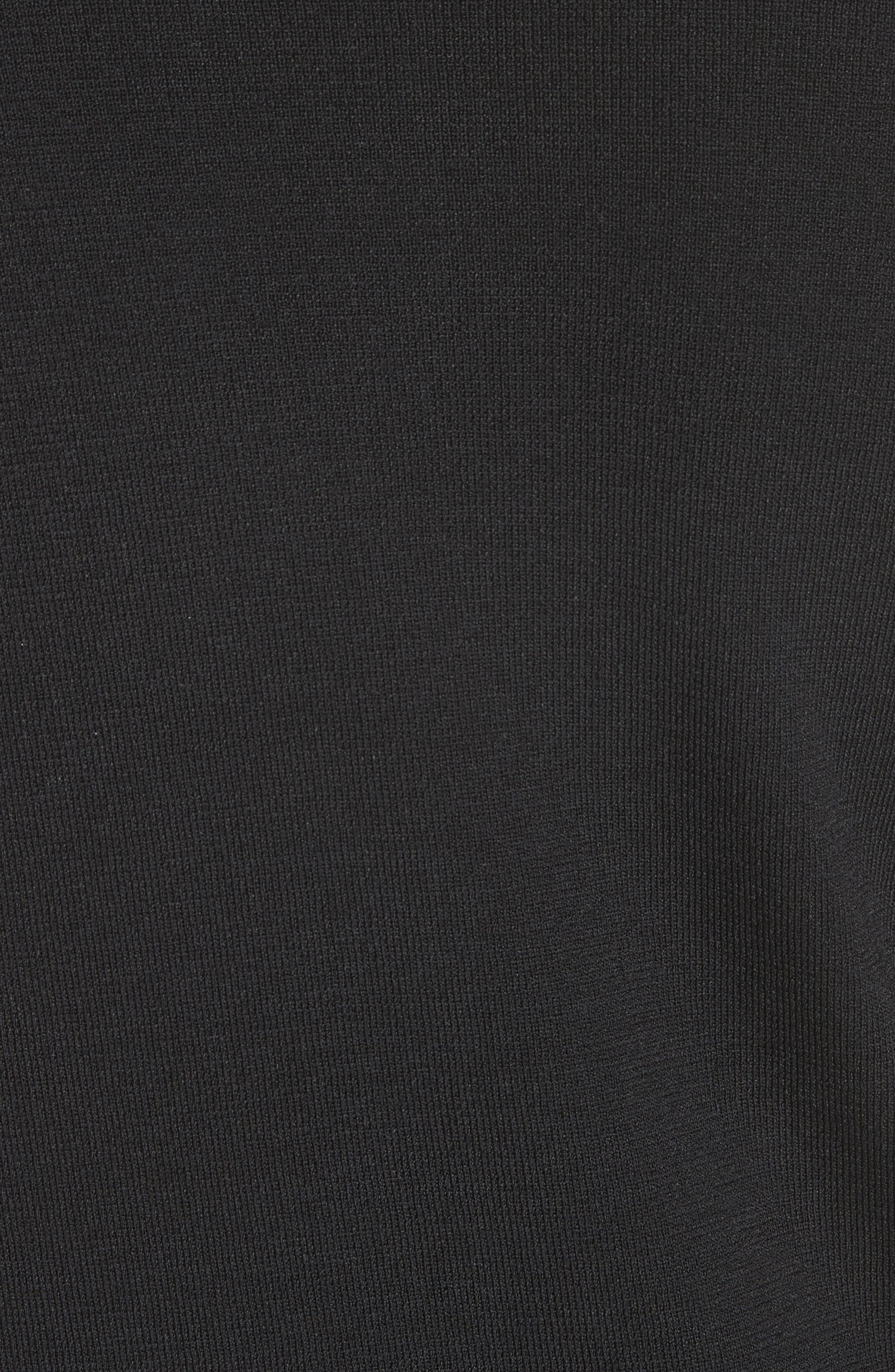 Kellie Zigzag Cardigan,                             Alternate thumbnail 6, color,                             Black