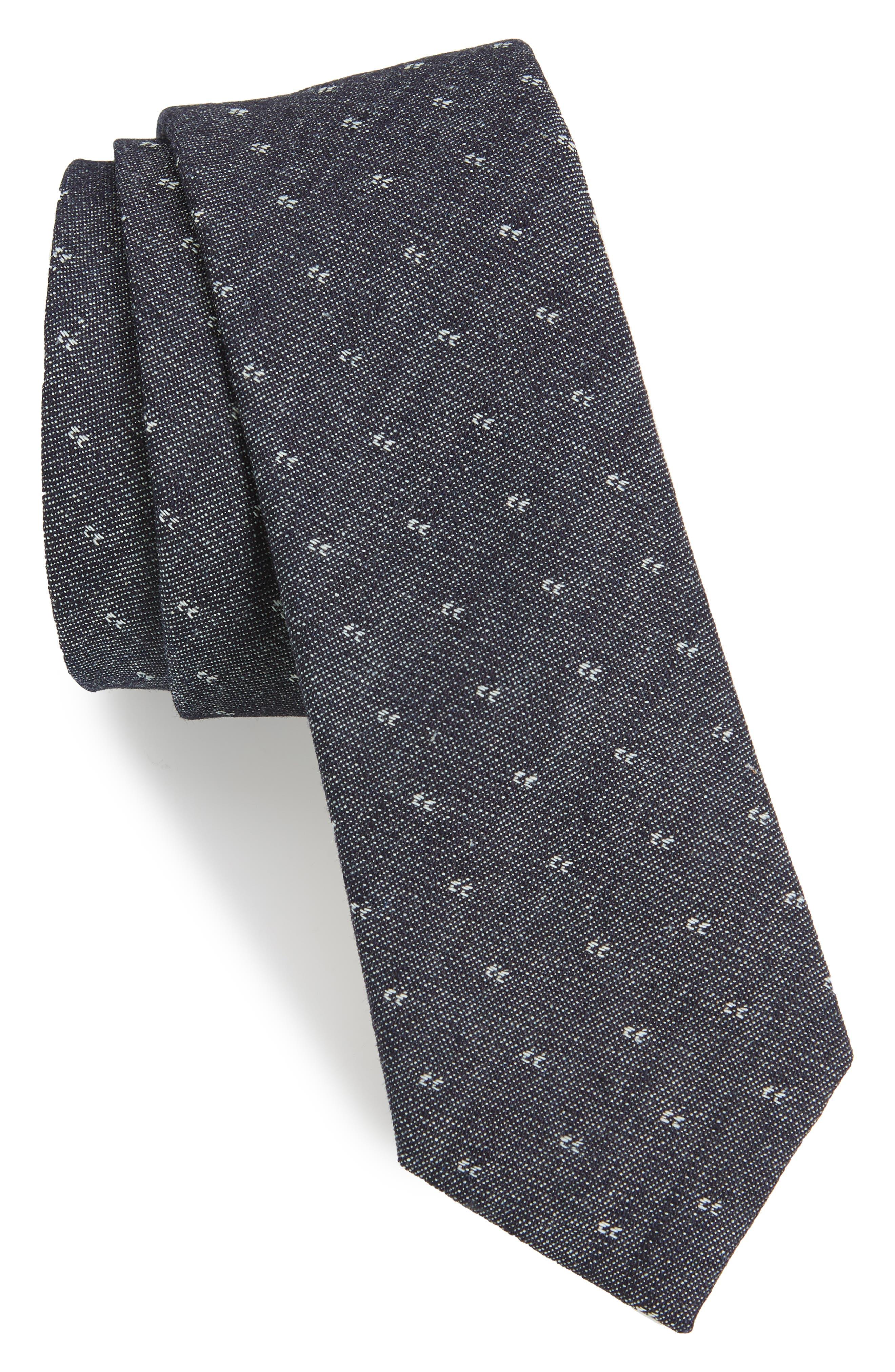 The Tie Bar Geometric Cotton Tie