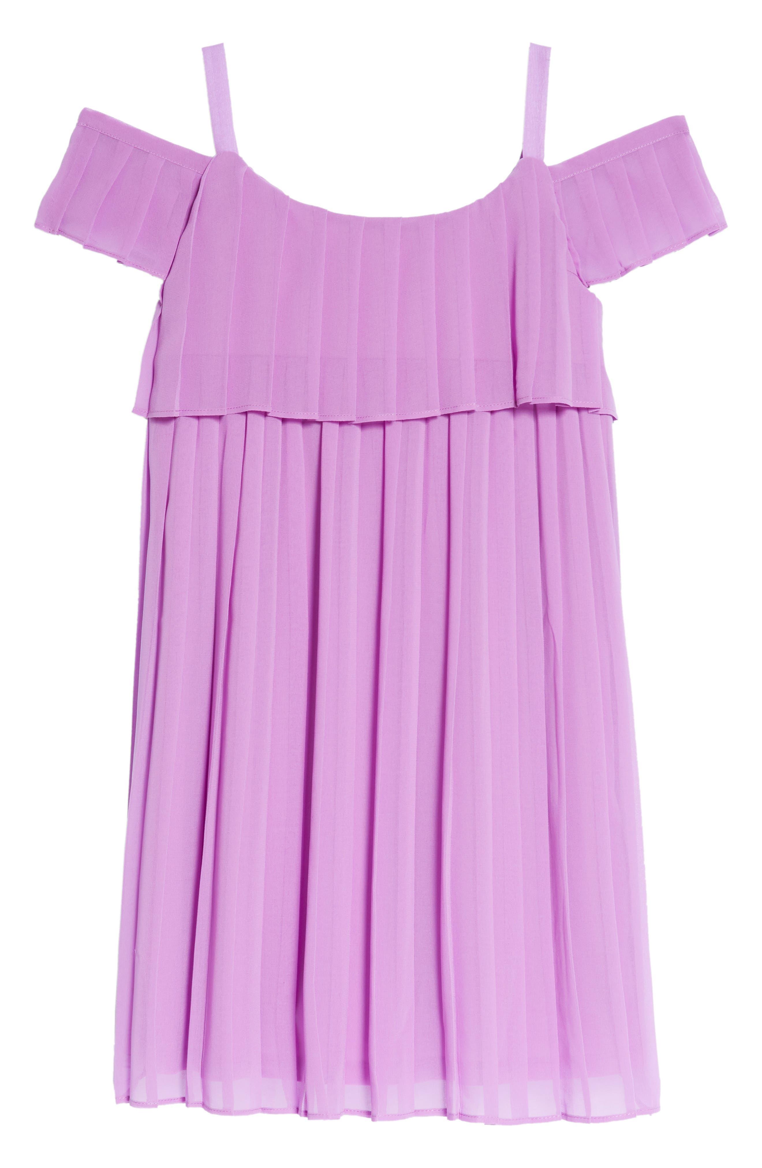Chiffon Cold Shoulder Dress,                             Alternate thumbnail 2, color,                             Lavander