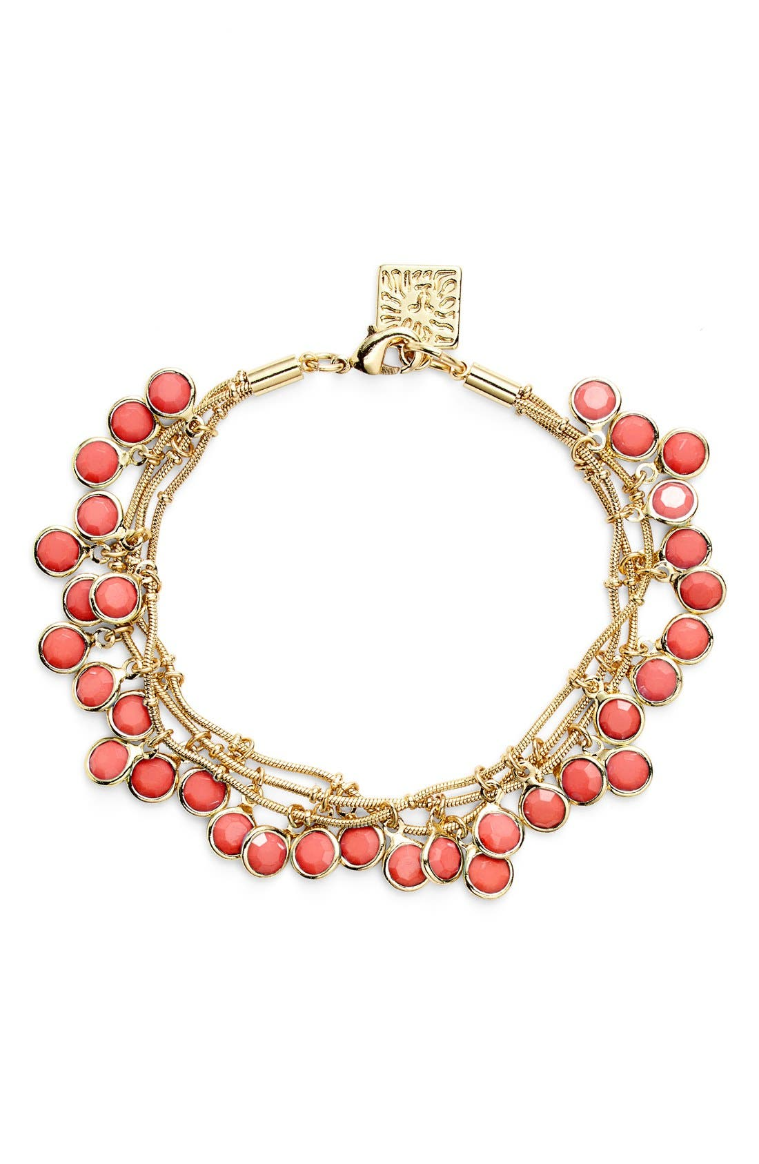 Alternate Image 1 Selected - Anne Klein 'Beacon Ct.' Multistrand Charm Bracelet