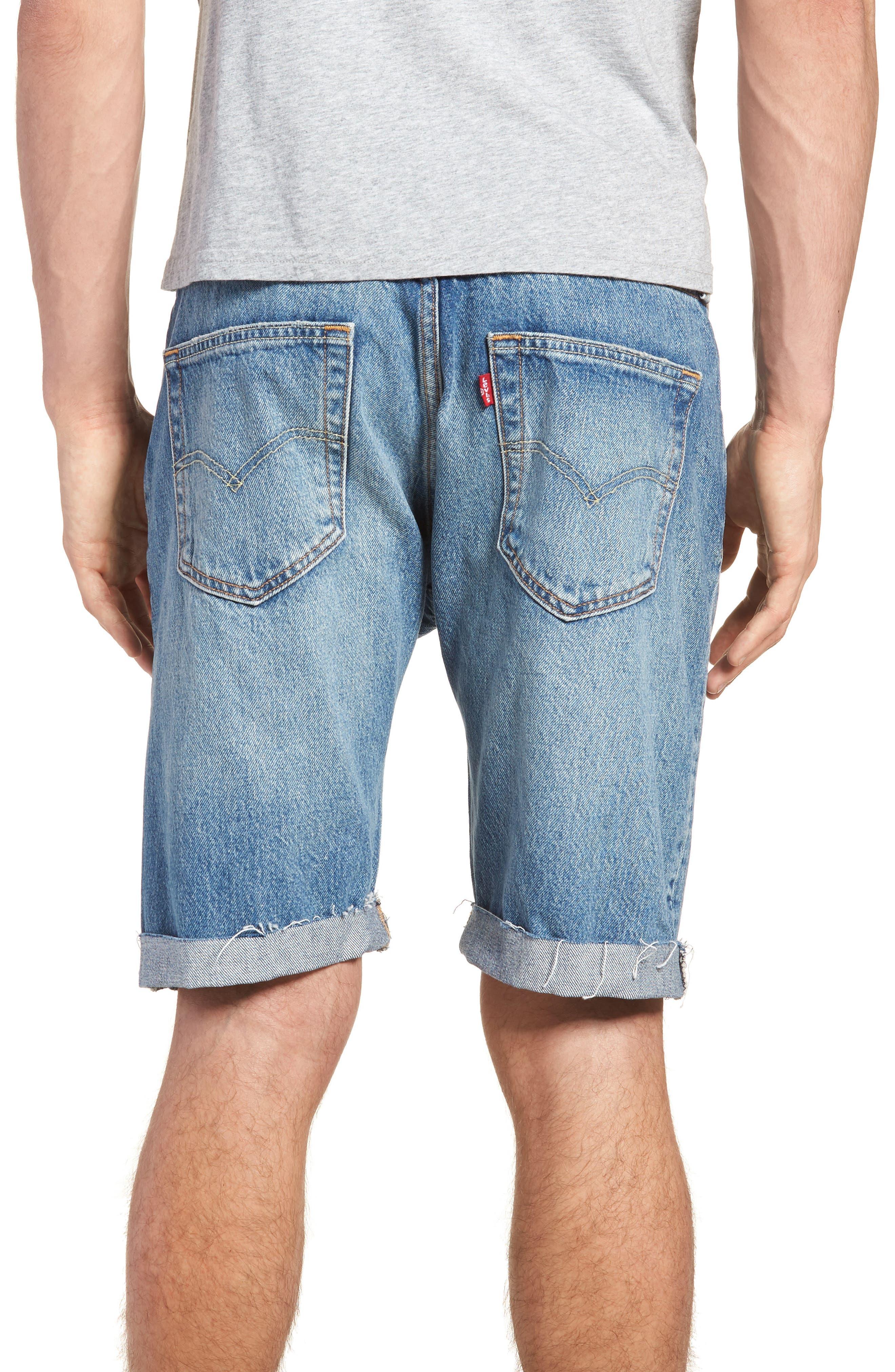 501<sup>®</sup> Cutoff Denim Shorts,                             Alternate thumbnail 2, color,                             Kauai Dx
