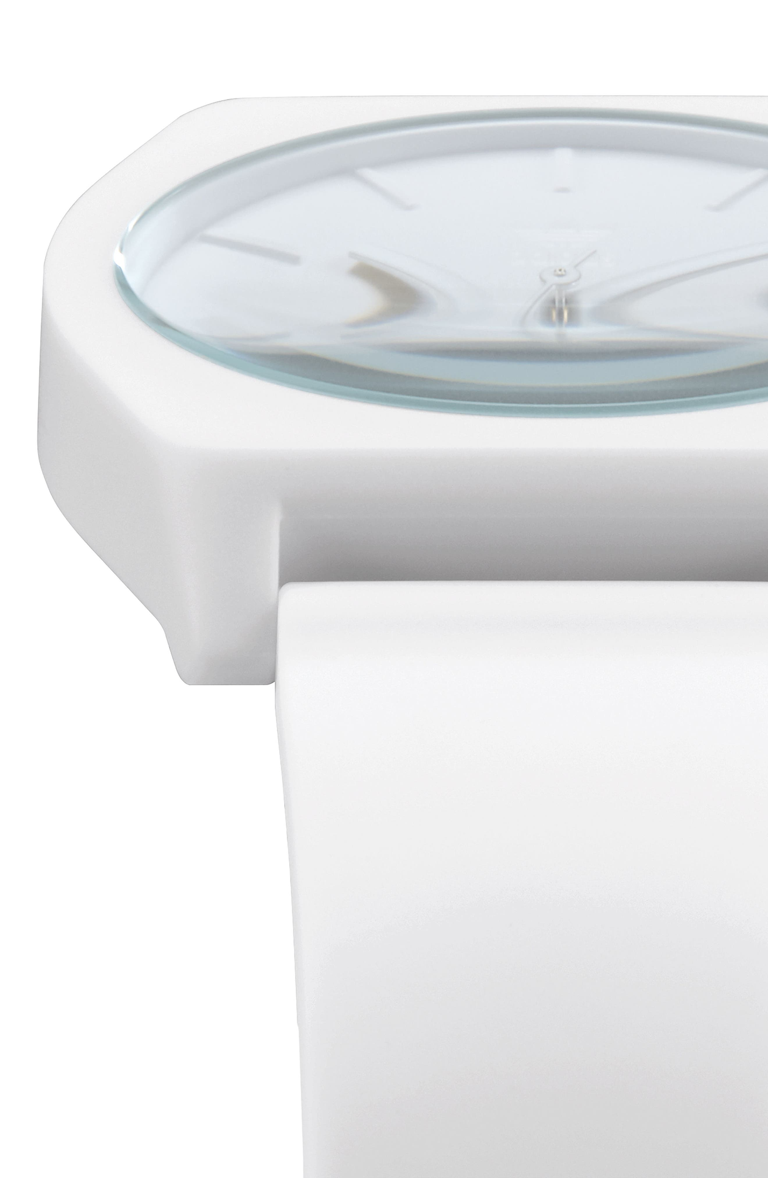 Process Silicone Strap Watch, 38mm,                             Alternate thumbnail 5, color,                             White