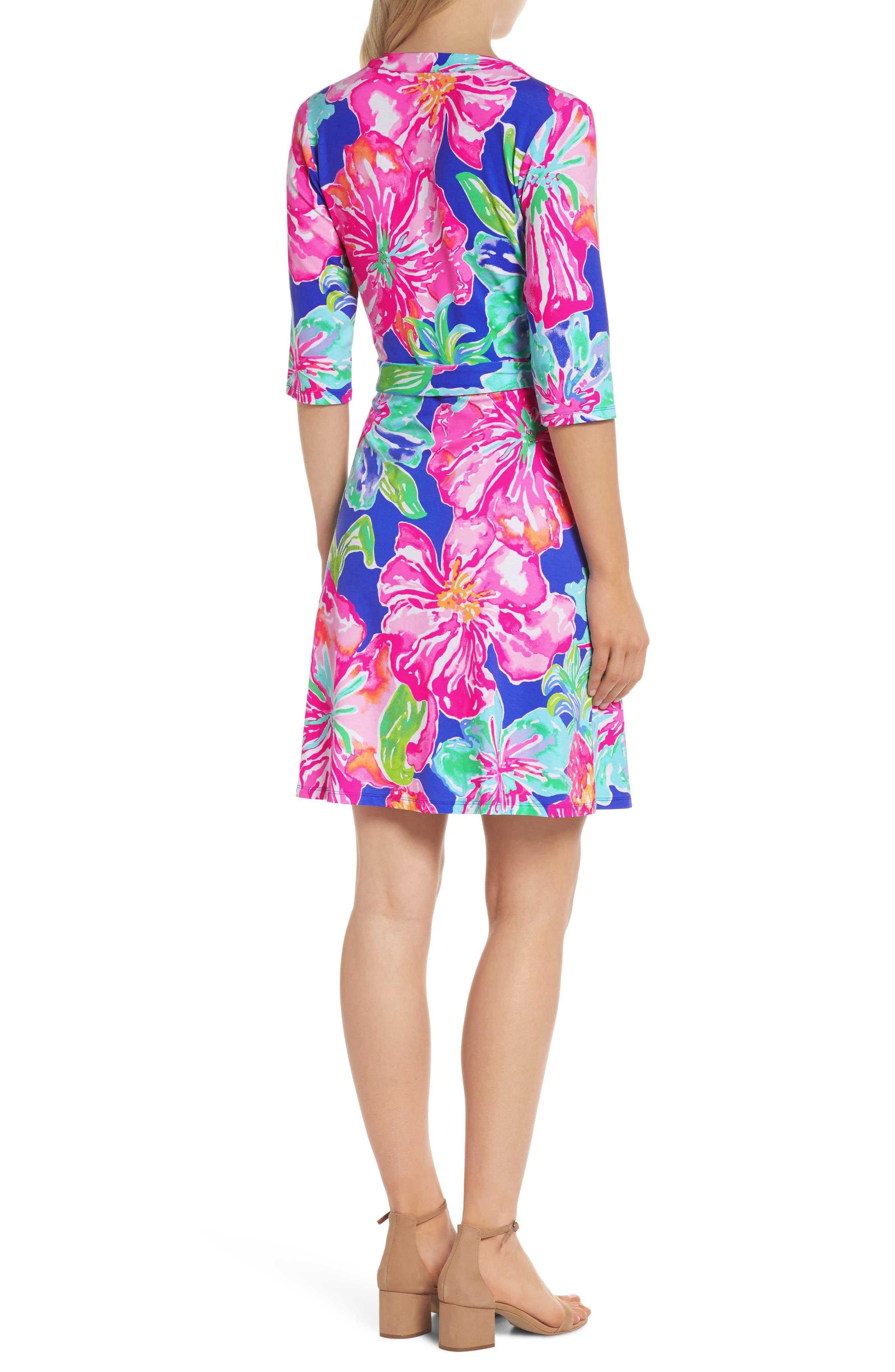 Marvista Wrap Dress,                             Alternate thumbnail 2, color,                             Beckon Blue Jungle Utopia
