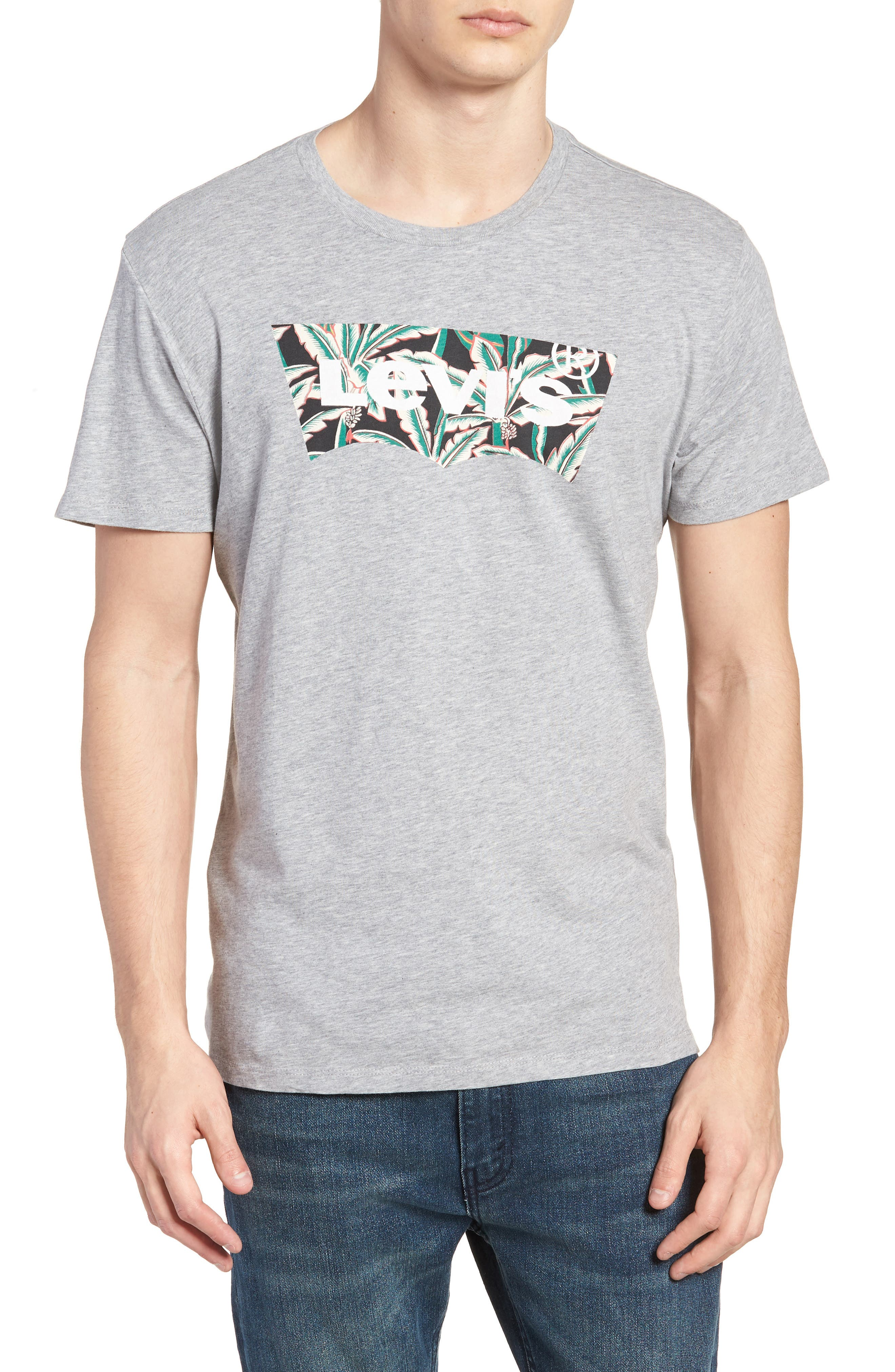 Housemark Graphic T-Shirt,                         Main,                         color, Midtone Grey Heather