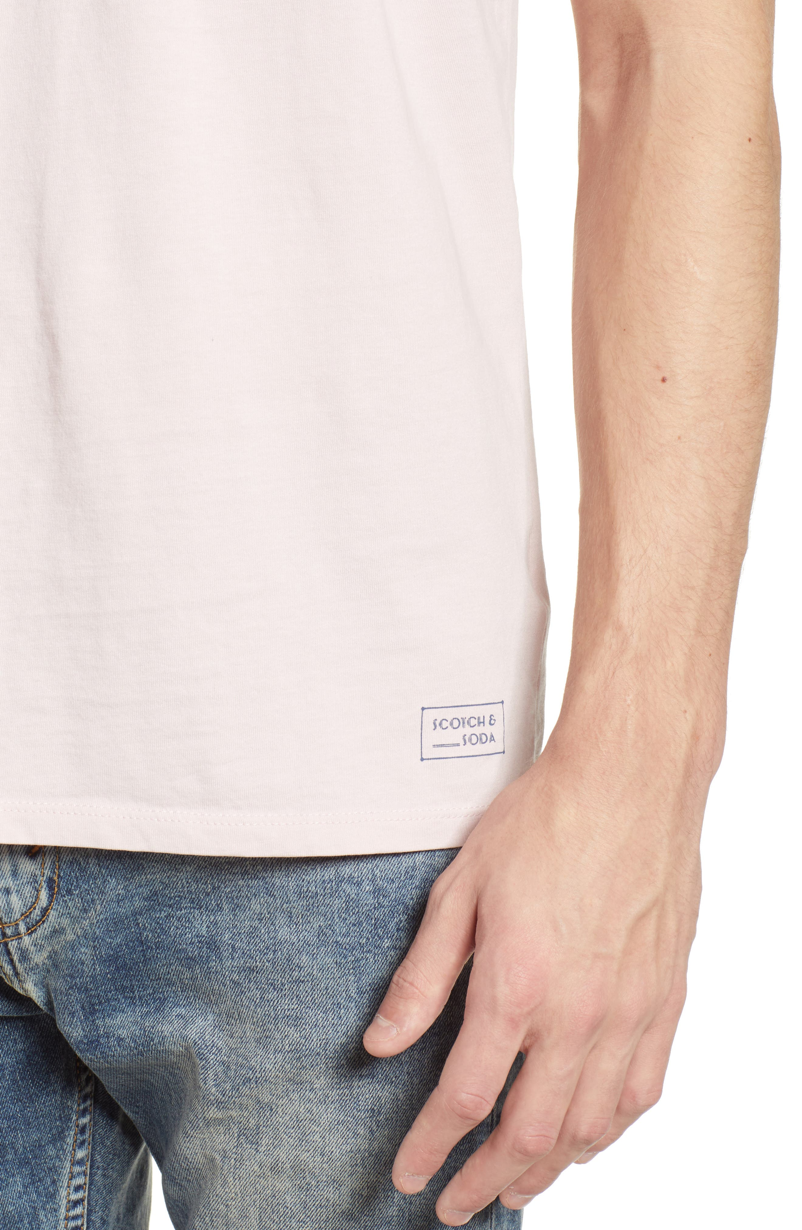 Classic Crewneck T-Shirt,                             Alternate thumbnail 4, color,                             Pink Ash