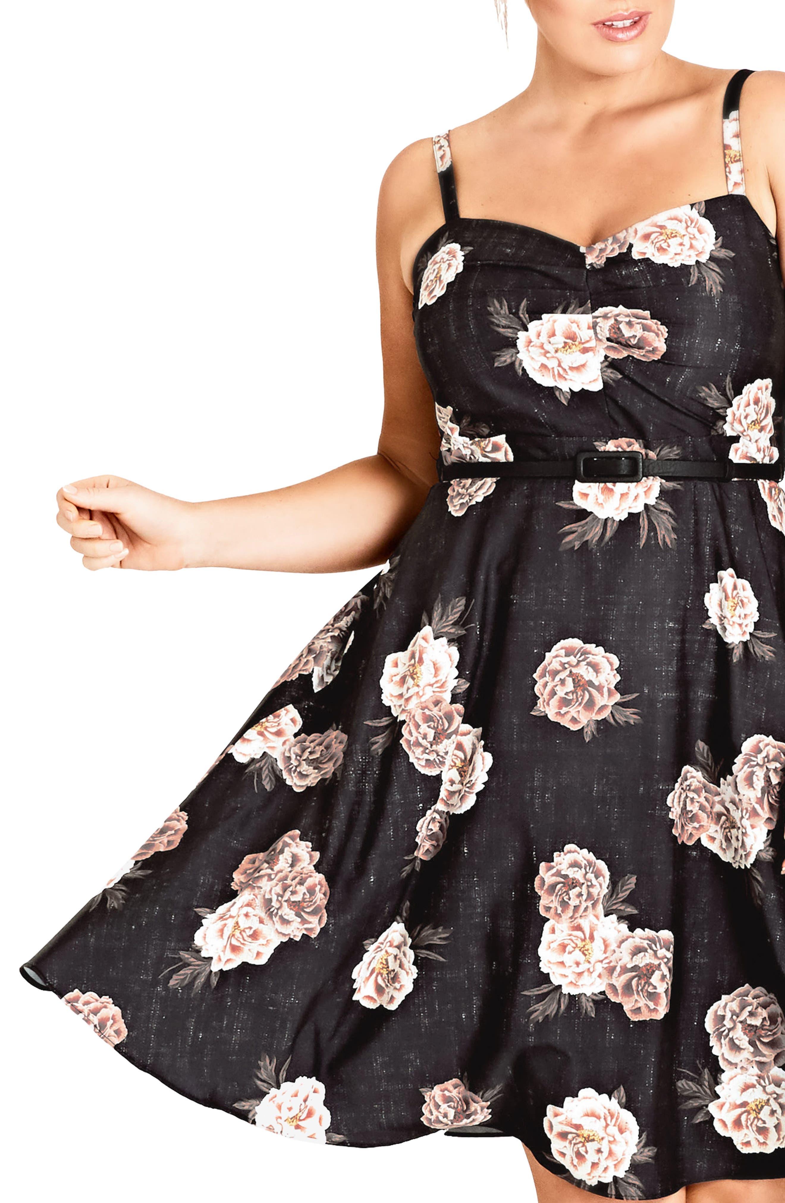 Antique Rose A-Line Dress,                             Alternate thumbnail 3, color,                             Antique Rose