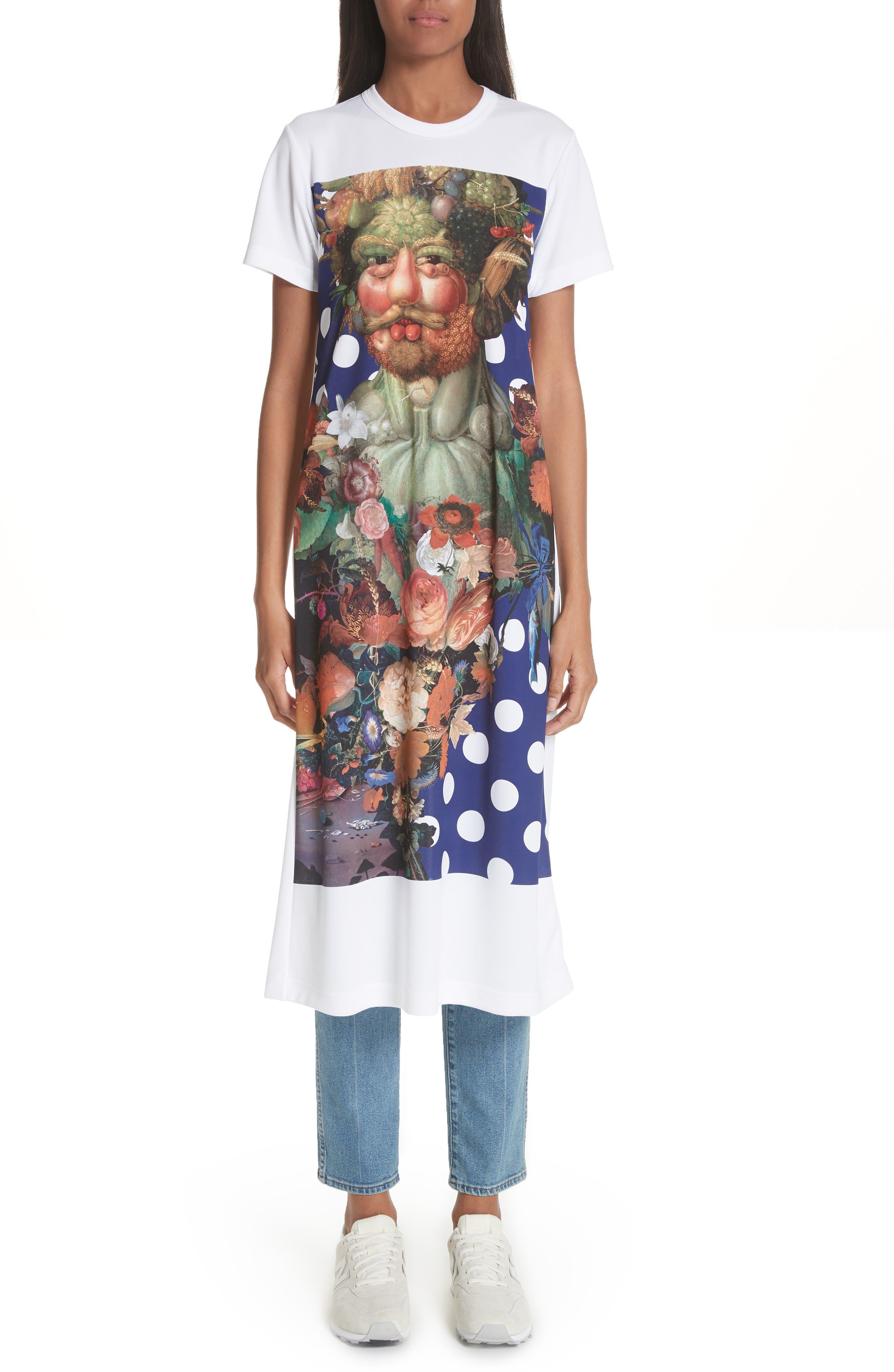 Comme des Garçons Vertumnus Print T-Shirt Dress