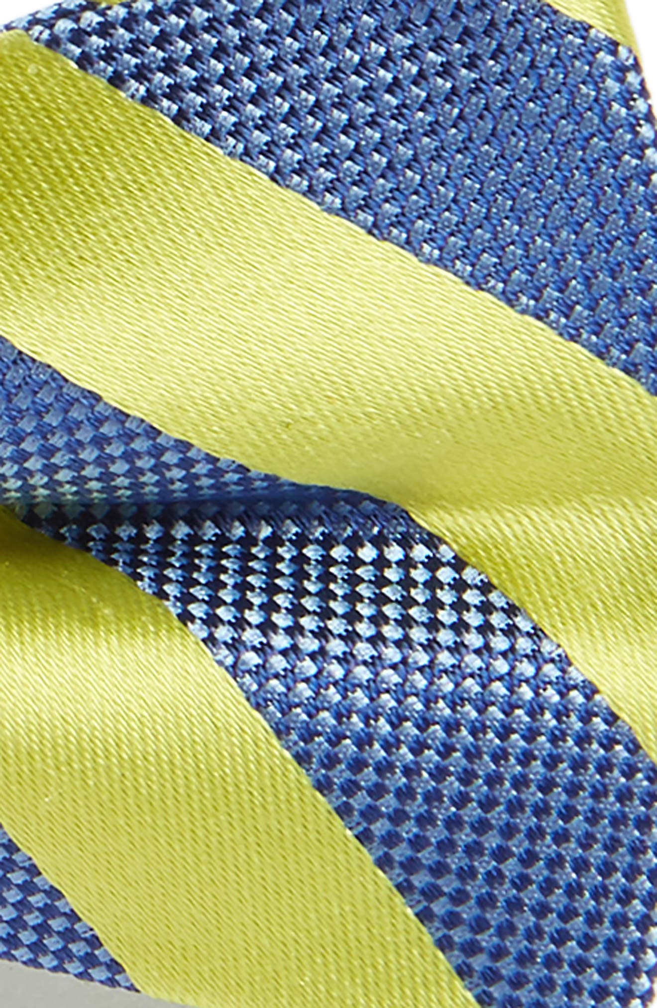 Stripe Silk Bow Tie,                             Alternate thumbnail 2, color,                             Bright Yellow