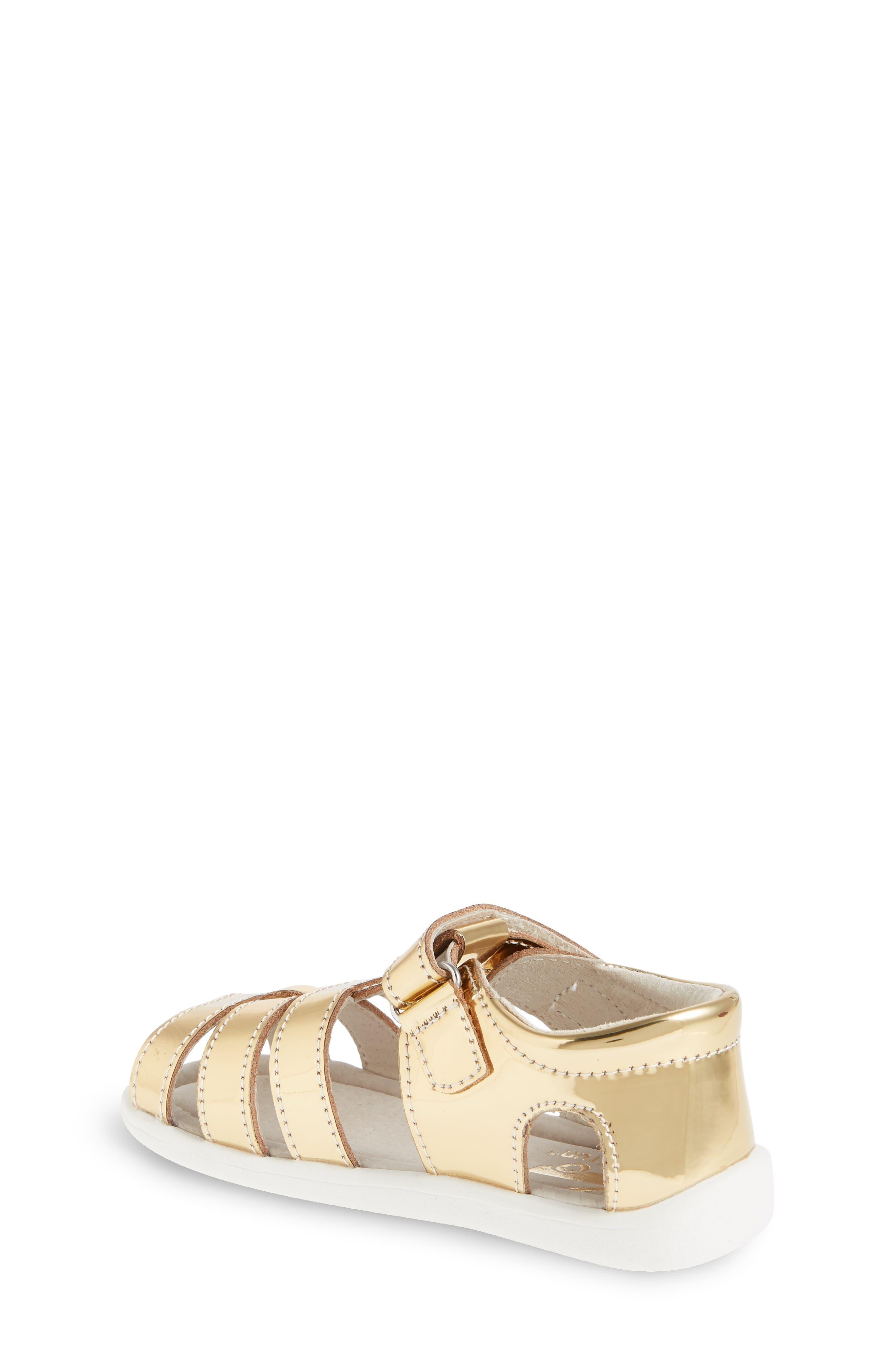 Alternate Image 2  - See Kai Run 'Fe' Metallic Leather Gladiator Sandal (Baby, Walker & Toddler)