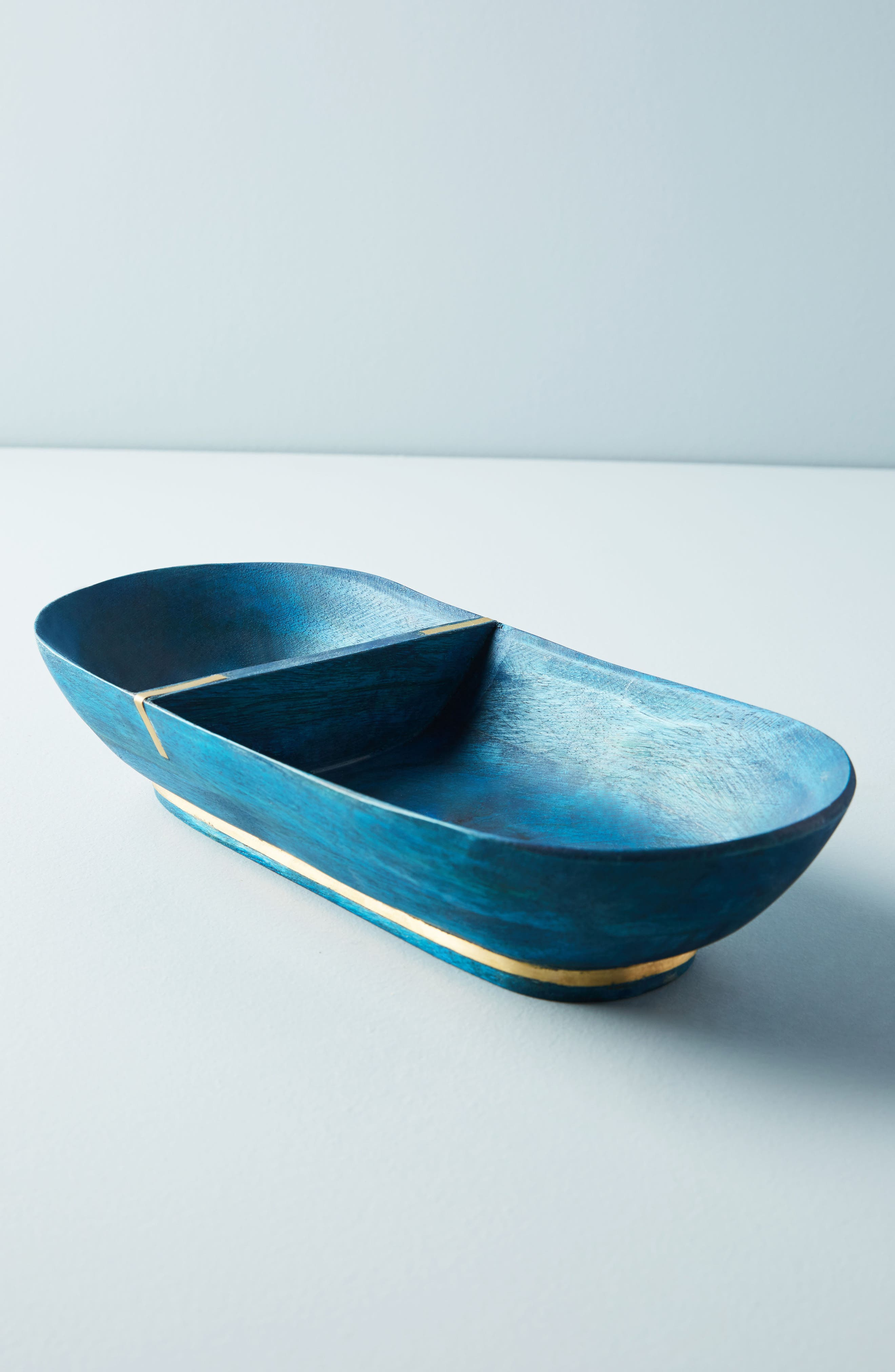 Wood Condiment Tray,                             Main thumbnail 1, color,                             Sapphire