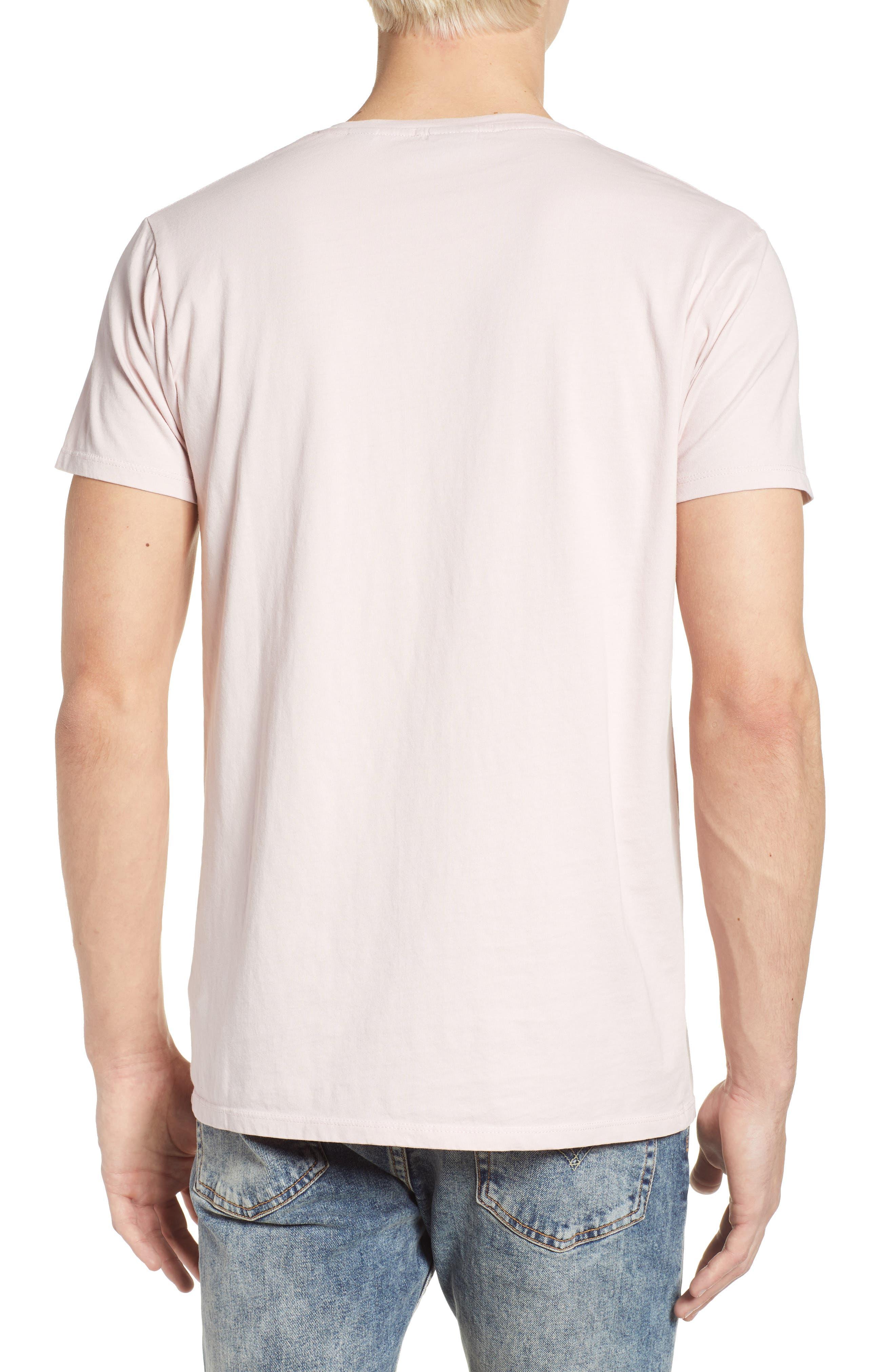 Classic Crewneck T-Shirt,                             Alternate thumbnail 2, color,                             Pink Ash