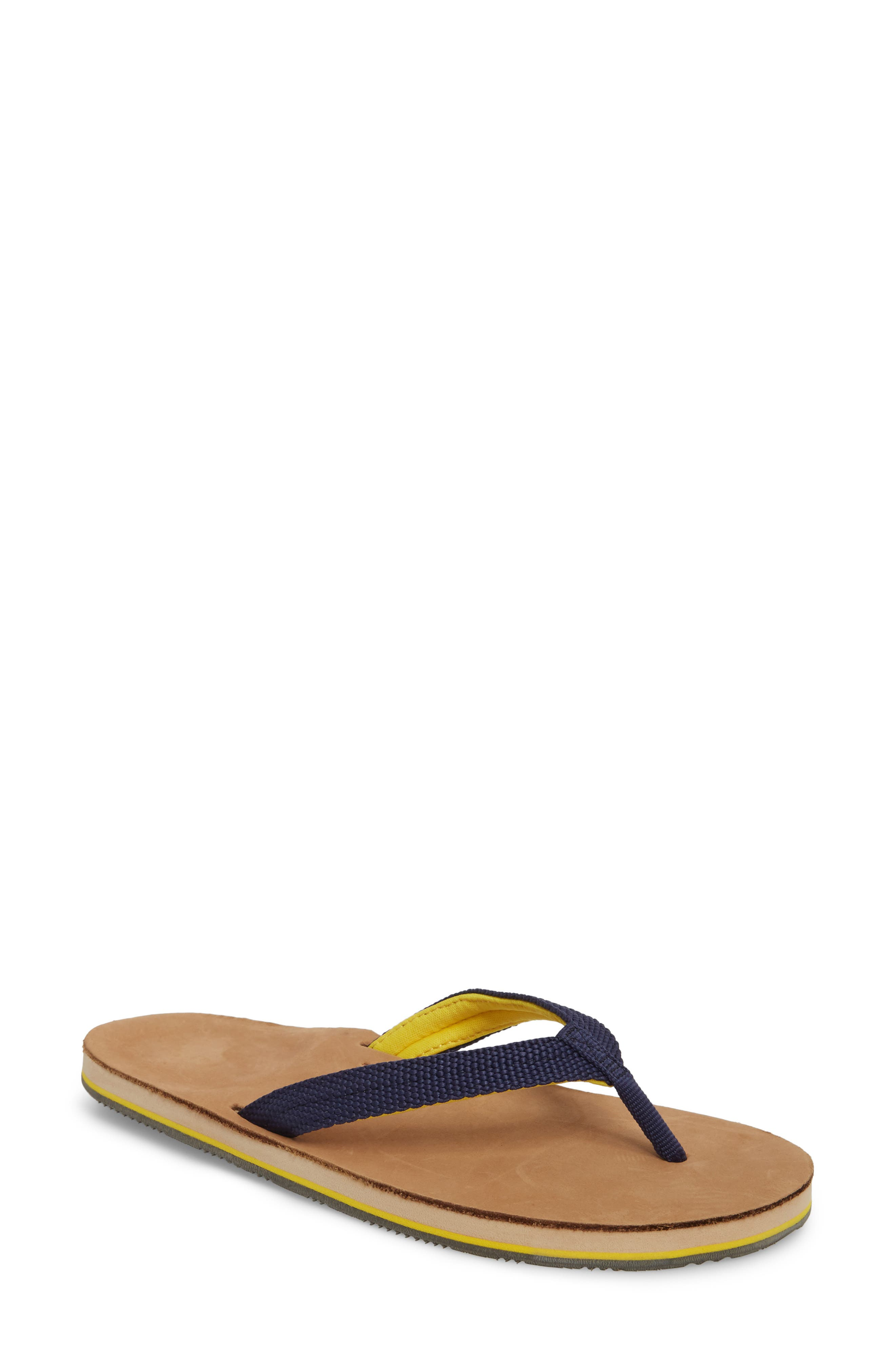 Scouts Flip Flop,                             Main thumbnail 1, color,                             Navy Yellow
